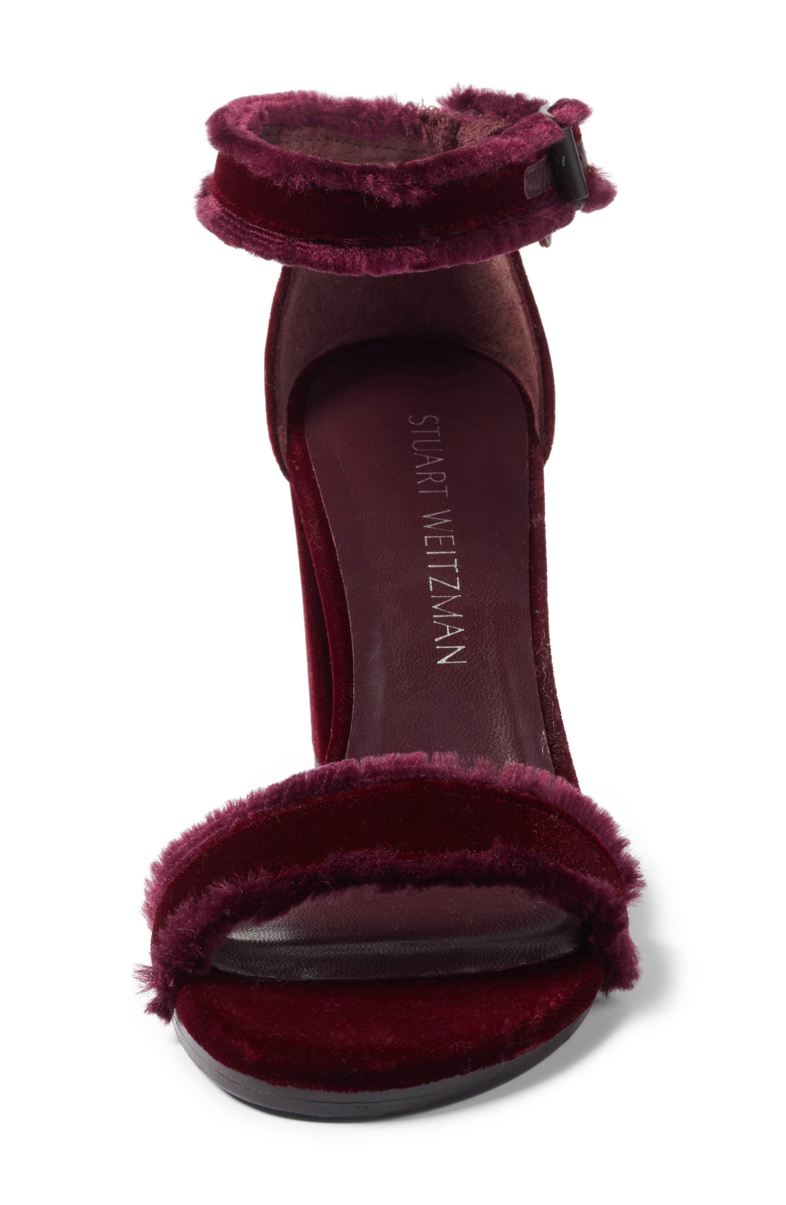 Alternate Image 5  - Stuart Weitzman Frayed Ankle Strap Sandal (Women)