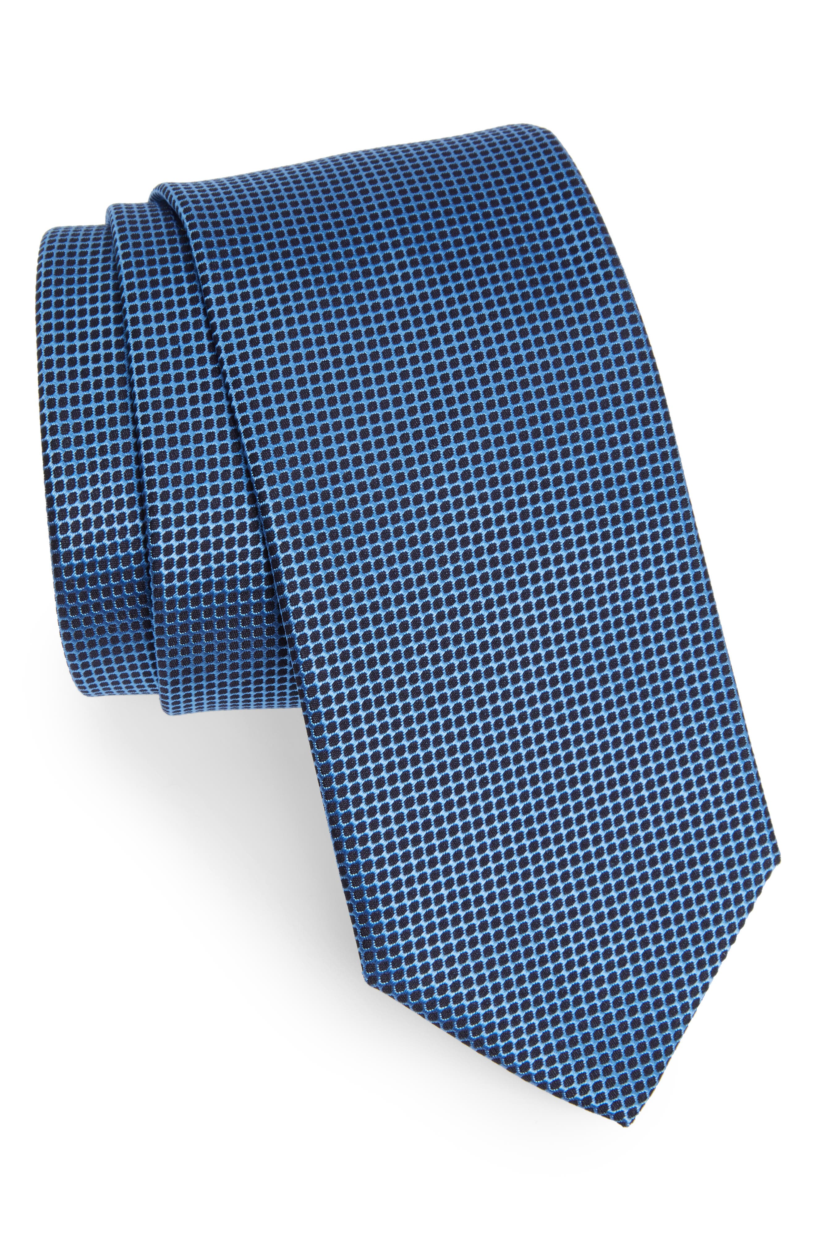 BOSS Grid Silk Tie