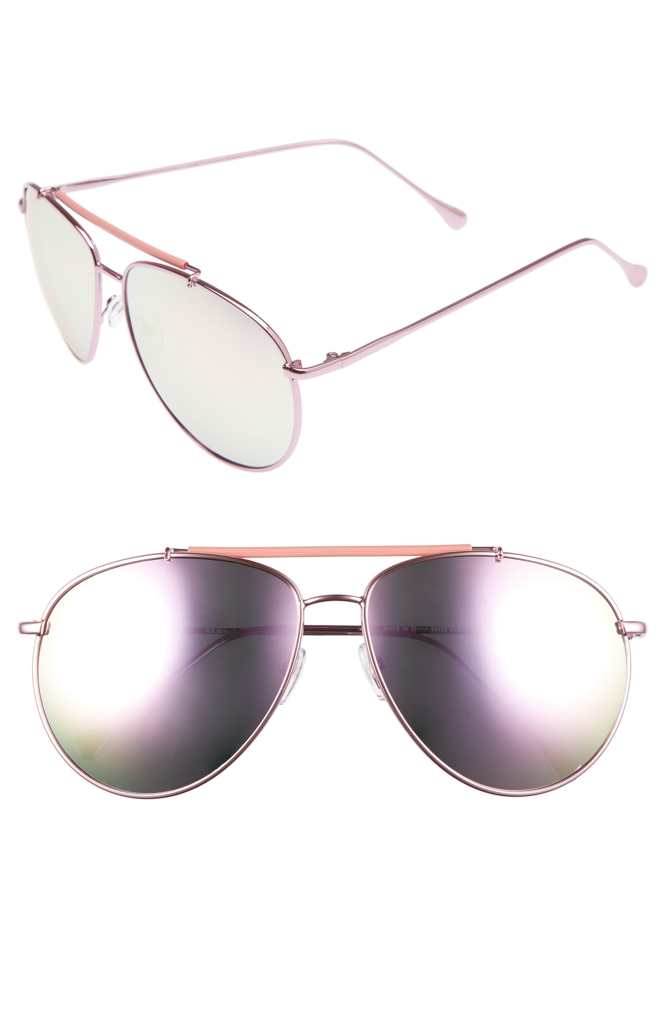 A.J. Morgan Skyward 61mm Aviator Sunglasses