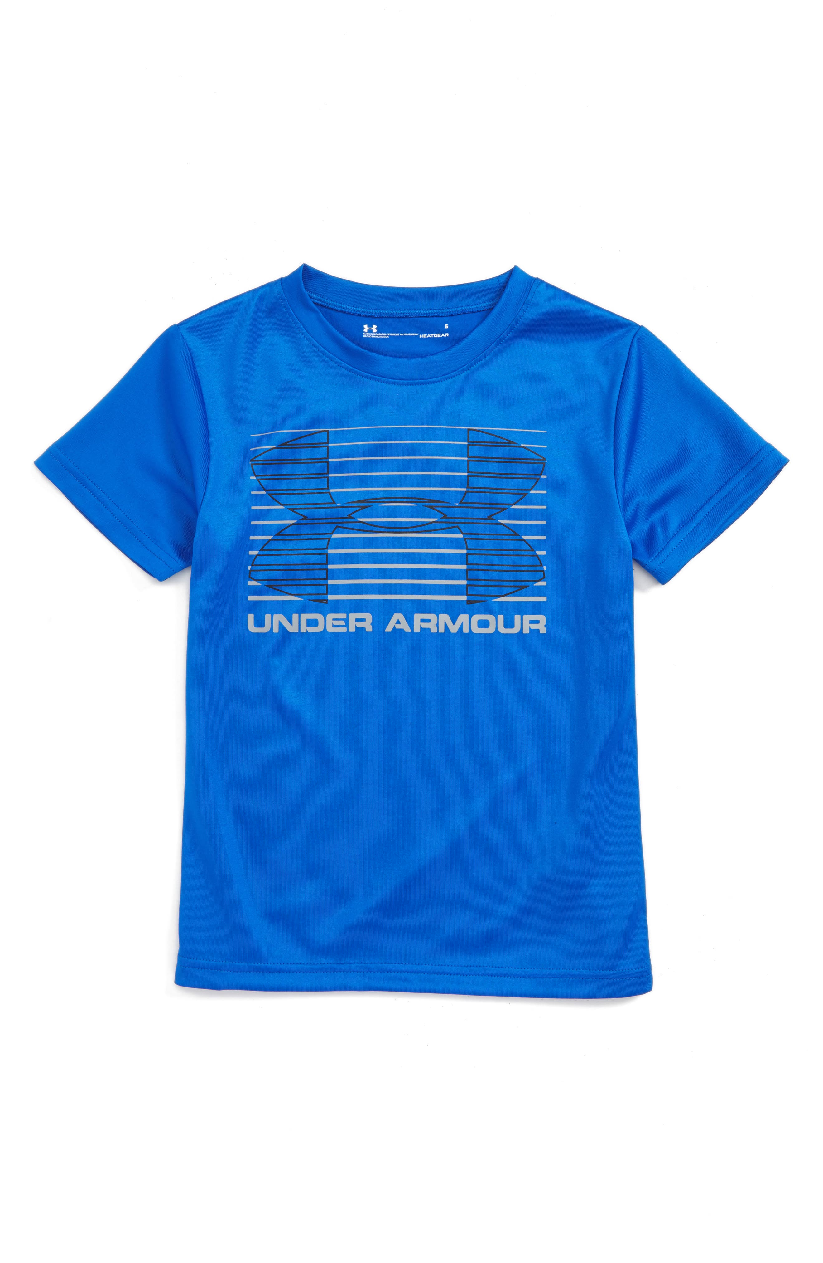 Under Armour Logo Lines Graphic HeatGear® T-Shirt (Toddler Boys & Little Boys)