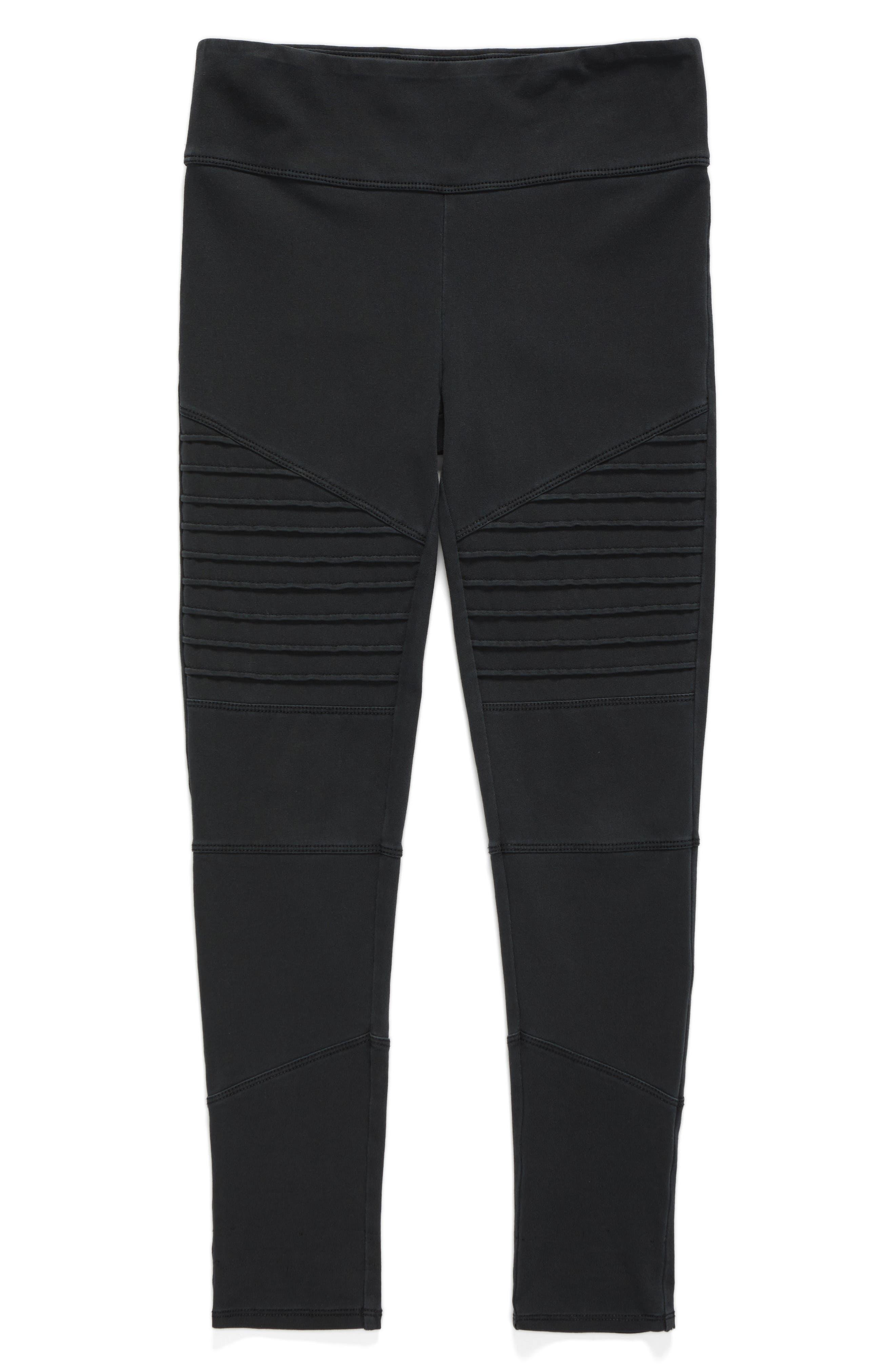 Alternate Image 1 Selected - Tucker + Tate High Waist Moto Pants (Big Girls)
