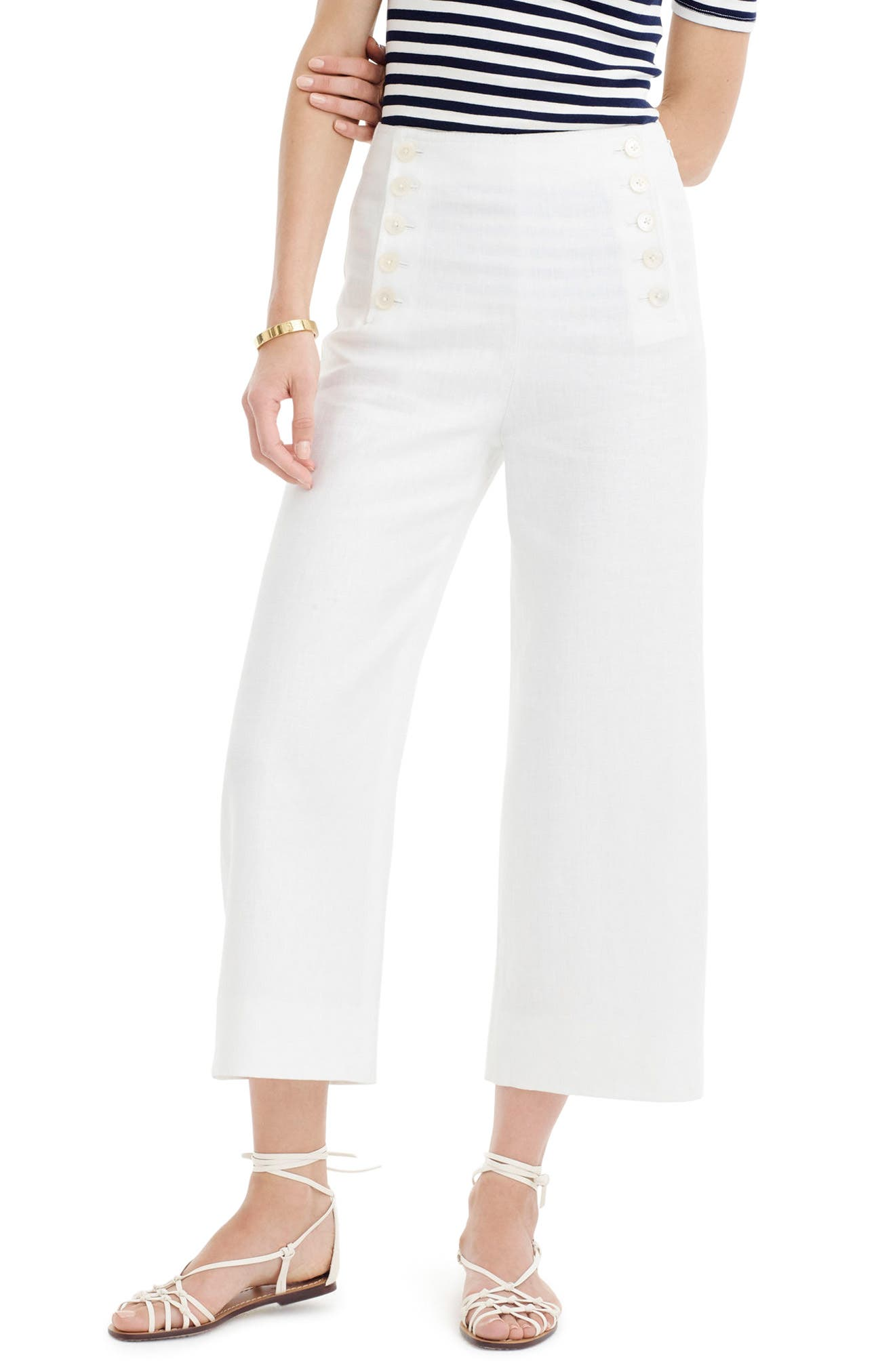 J.Crew Heavy Linen Sailor Pants (Regular & Petite)