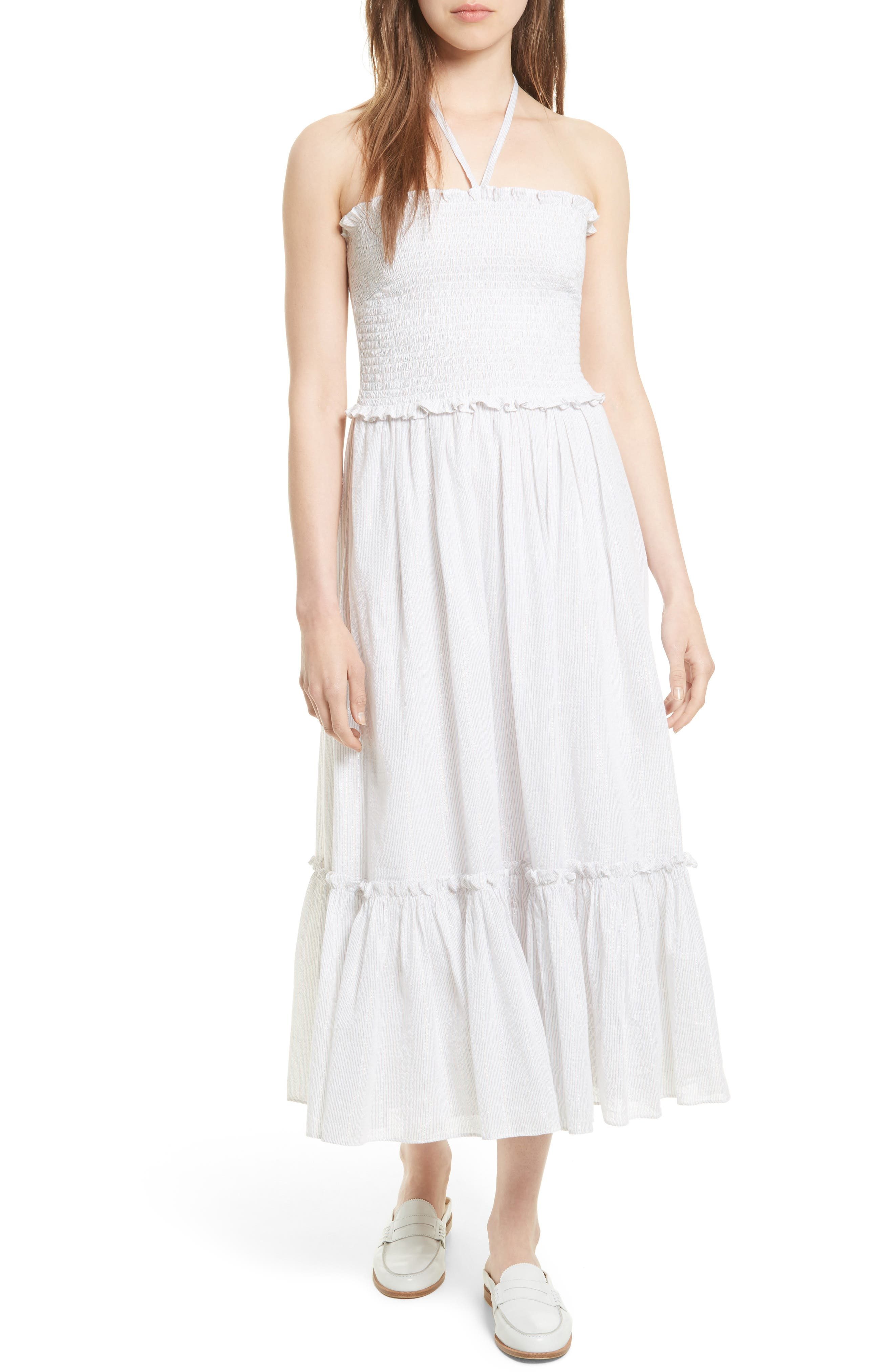 La Vie Rebecca Taylor Metallic Stripe Maxi Dress