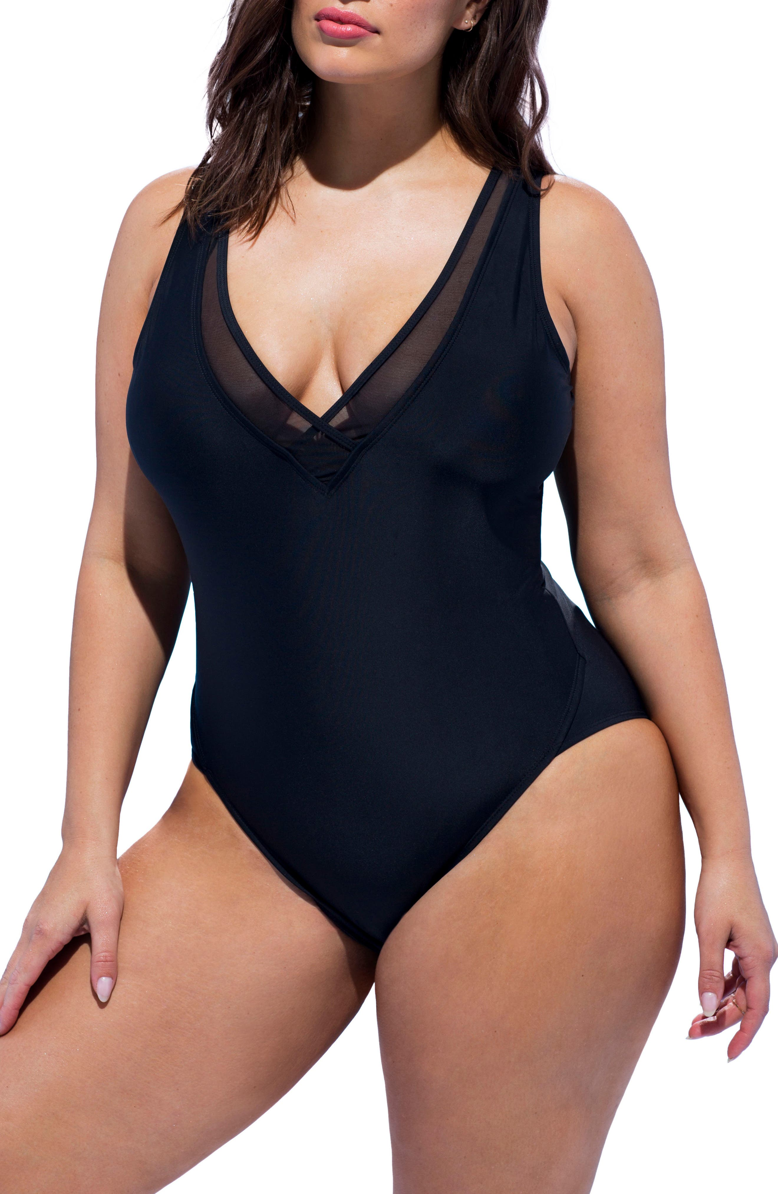 Ashley Graham Presidenta One-Piece Swimsuit (Plus Size)
