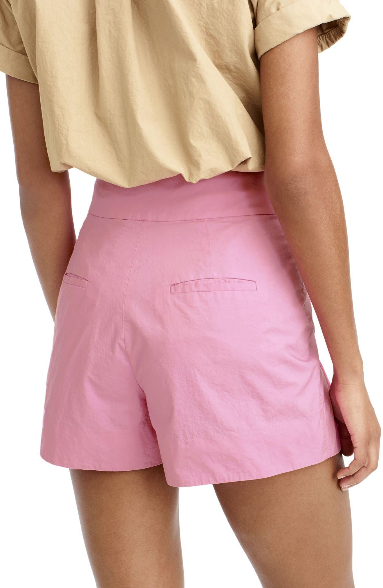Alternate Image 2  - J.Crew Cotton Poplin Tie Waist Shorts