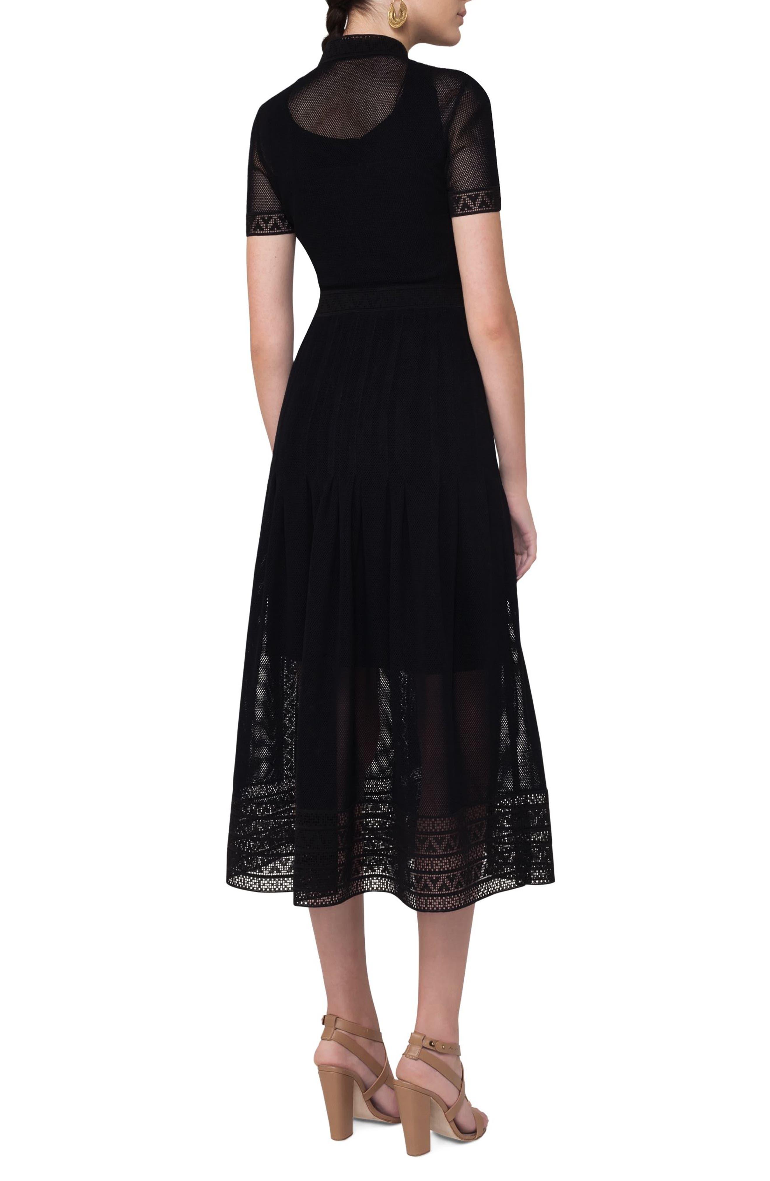 Alternate Image 2  - Akris punto Lace Mesh Midi Dress
