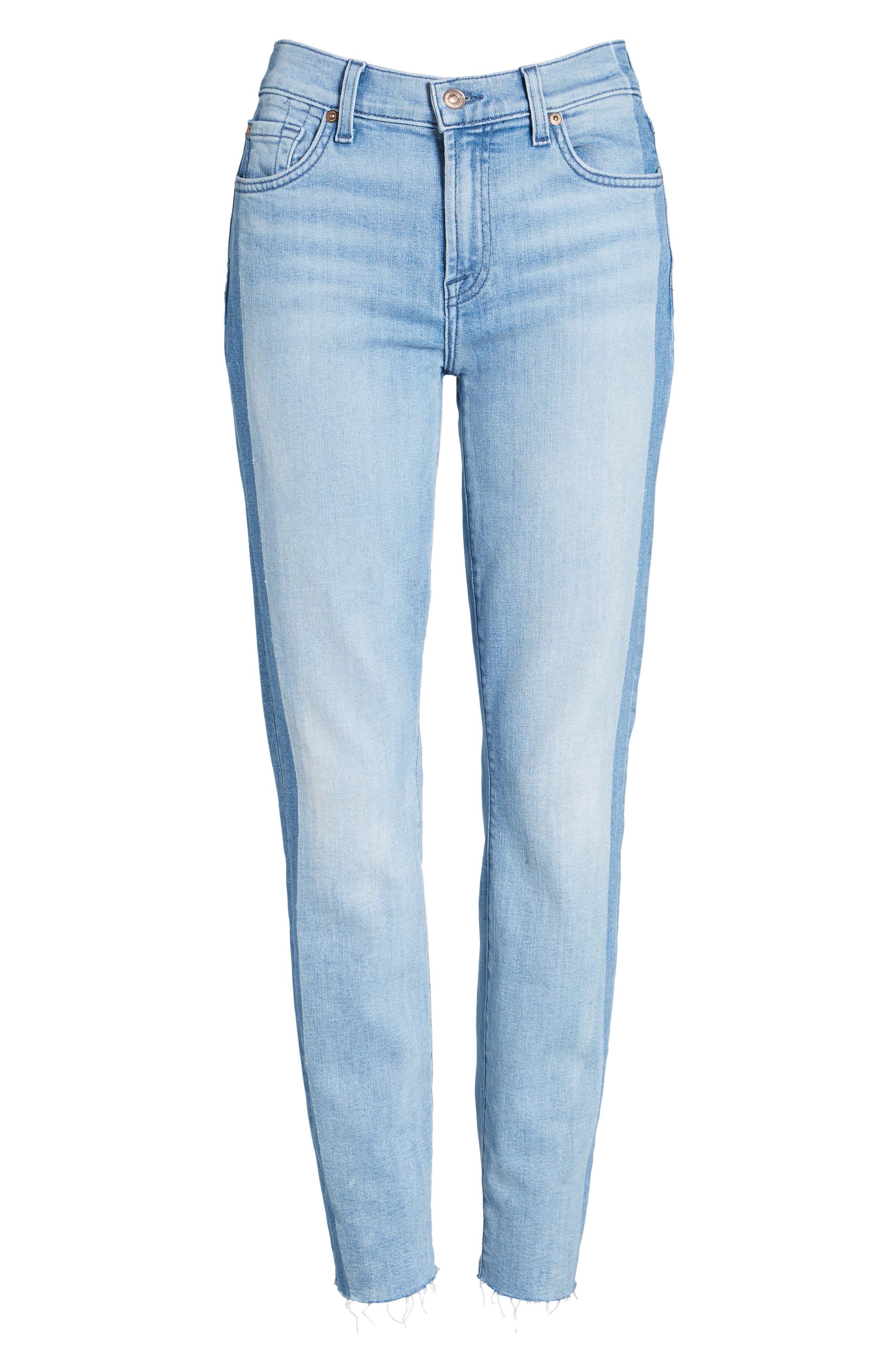 Alternate Image 7  - 7 For All Mankind® Roxanne Original Ankle Skinny Jeans (Bright Chelsea)