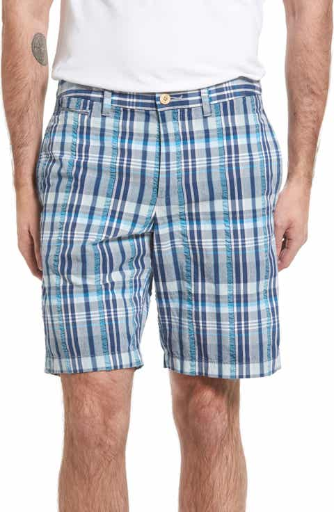 Tommy Bahama Milos Madras Plaid Shorts (Big   Tall)