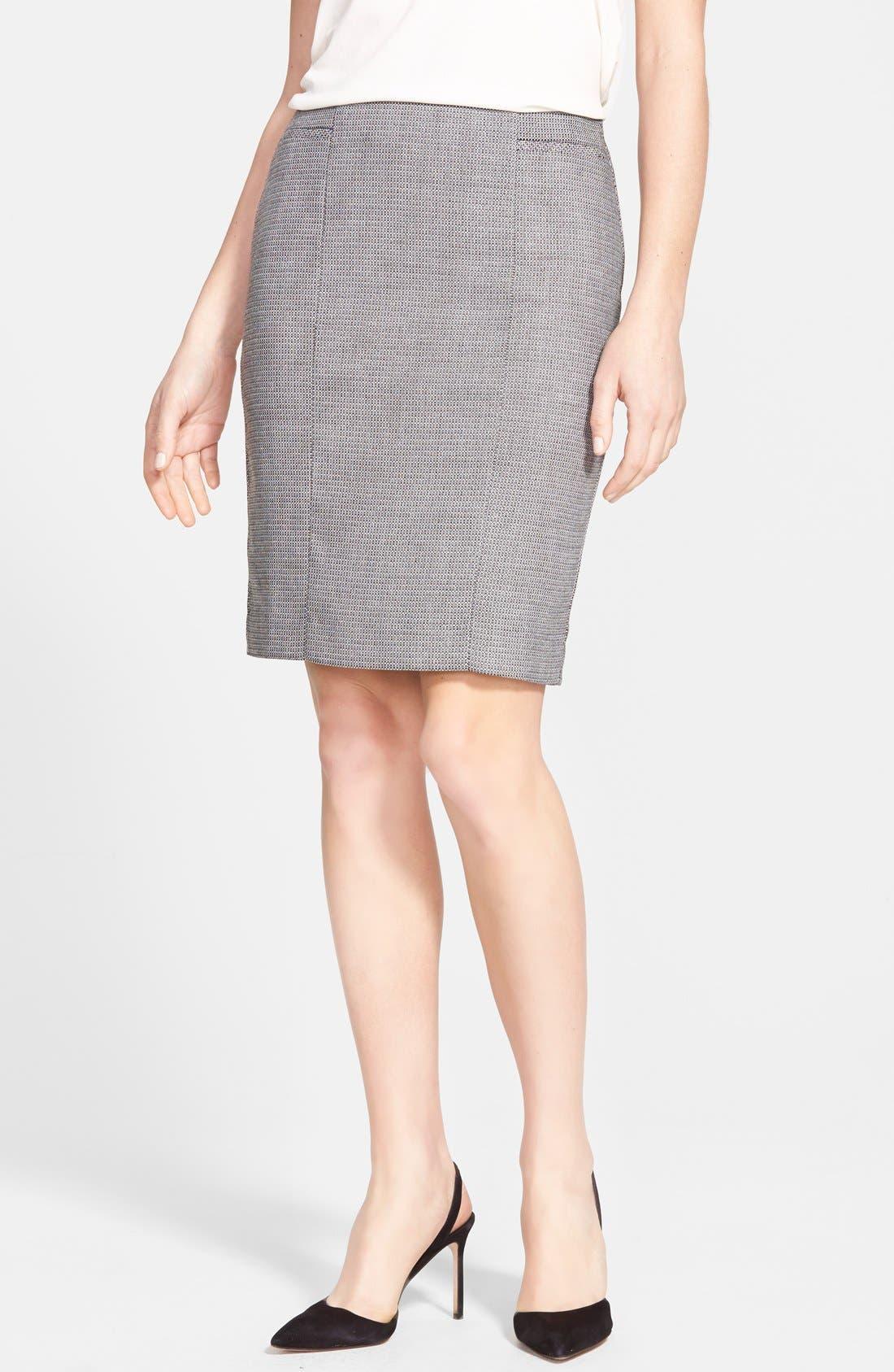 Alternate Image 1 Selected - Halogen® Pencil Suit Skirt (Regular & Petite)