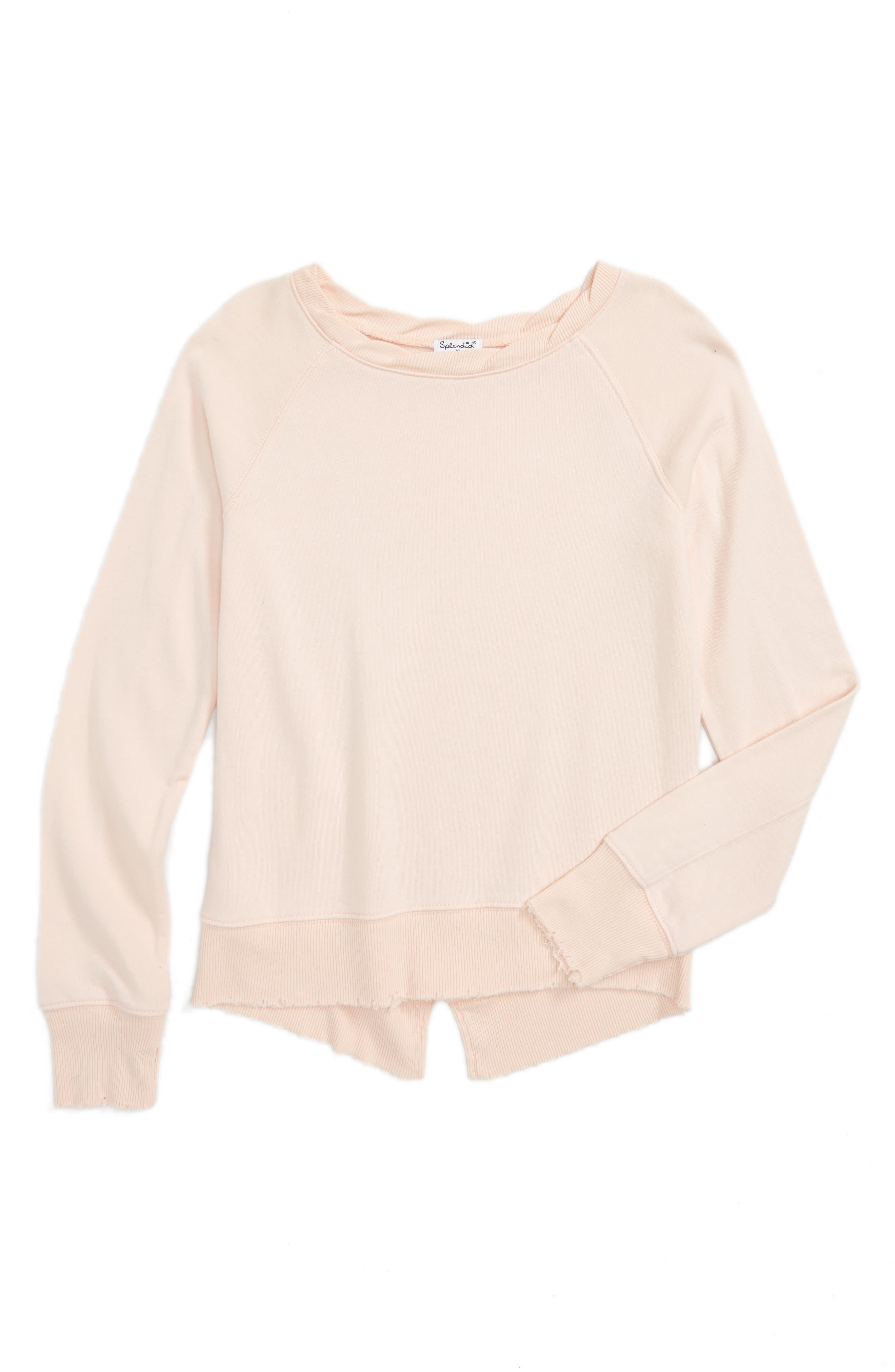 Splendid Split Hem Sweatshirt (Big Girls)
