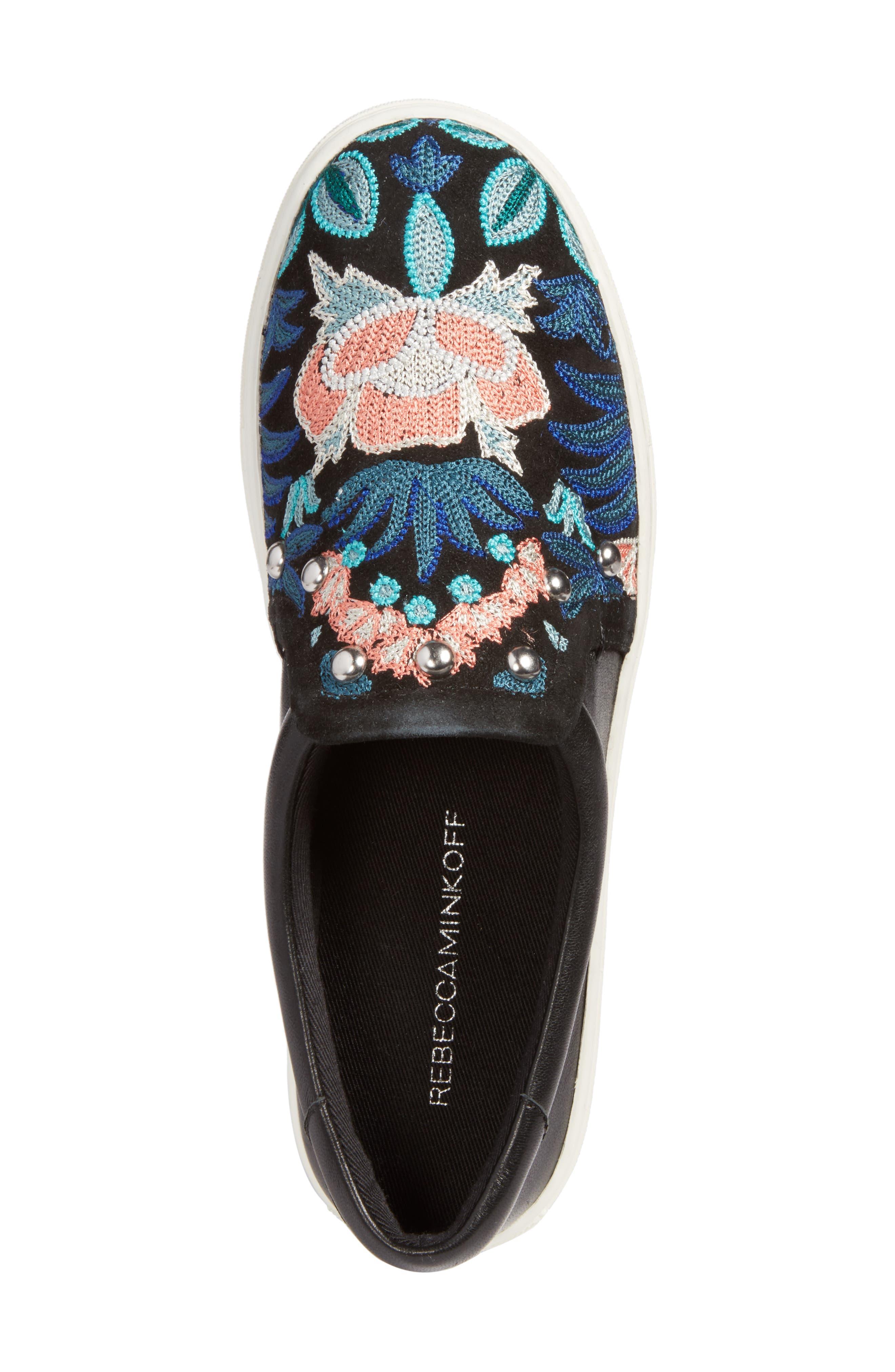 Alternate Image 5  - Rebecca Minkoff Noelle Embellished Slip-On Platform Sneaker (Women)