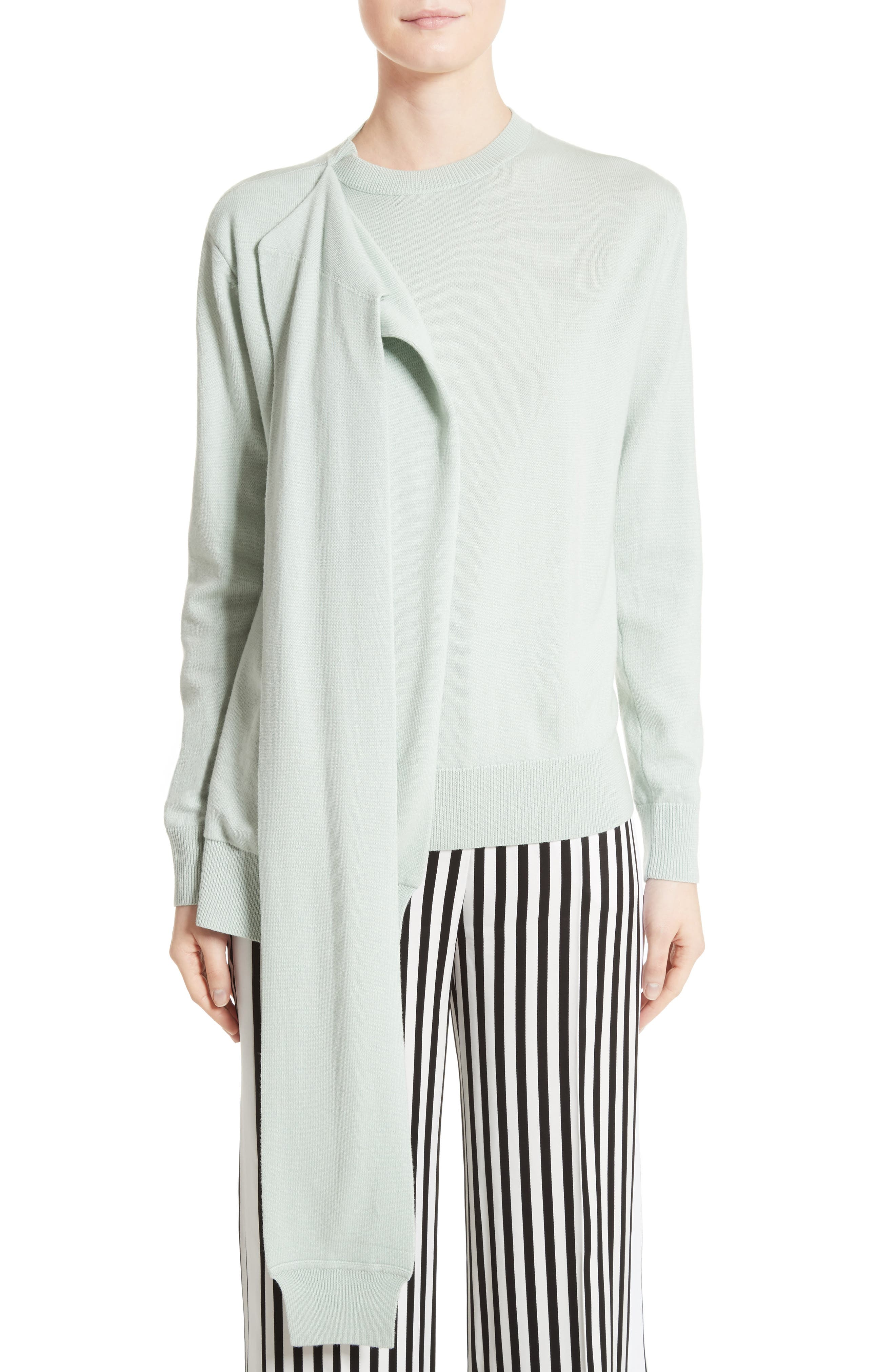 Victoria, Victoria Beckham Wrap Neck Merino Wool Sweater