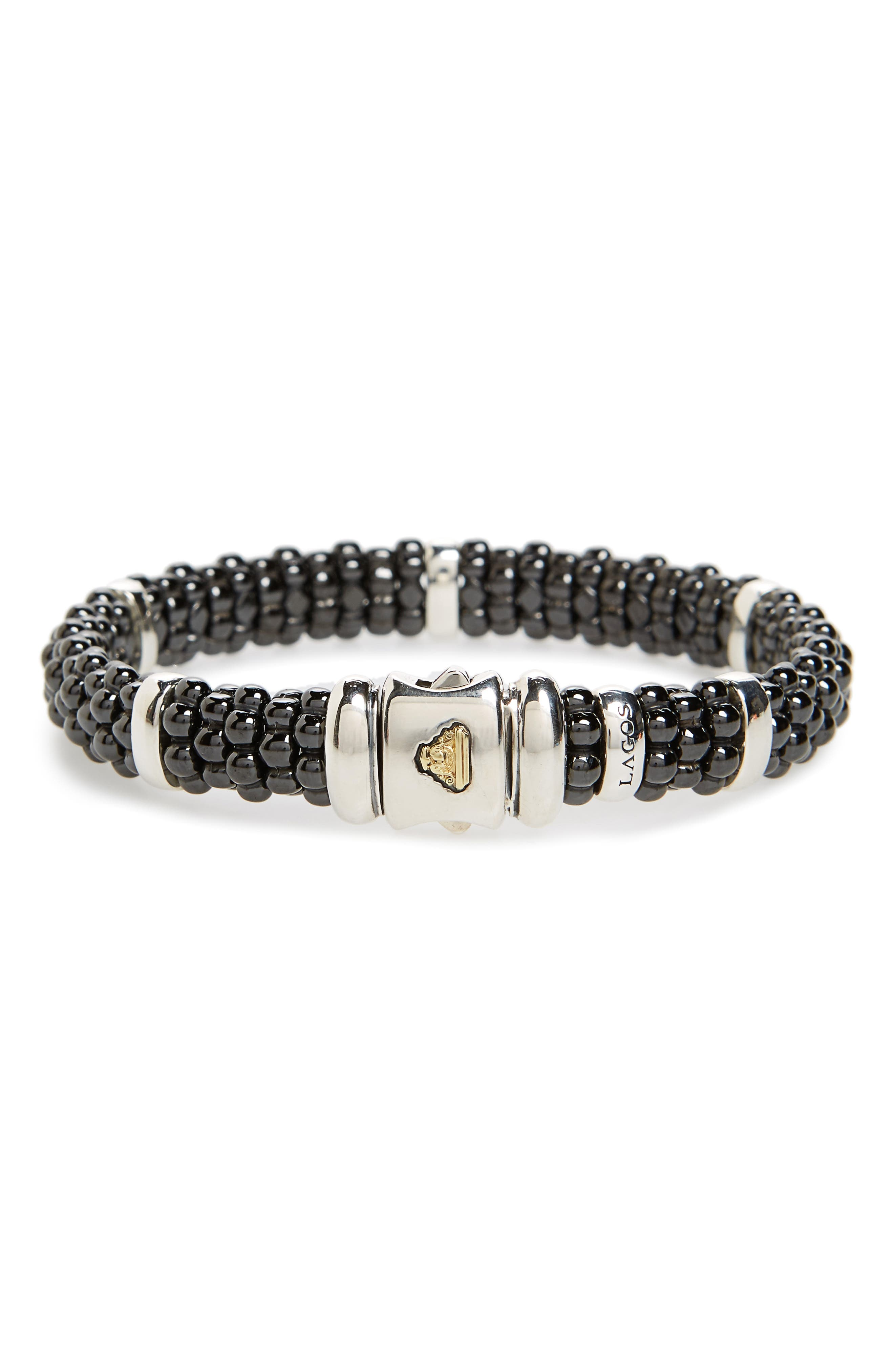 LAGOS Black Caviar Station Bracelet