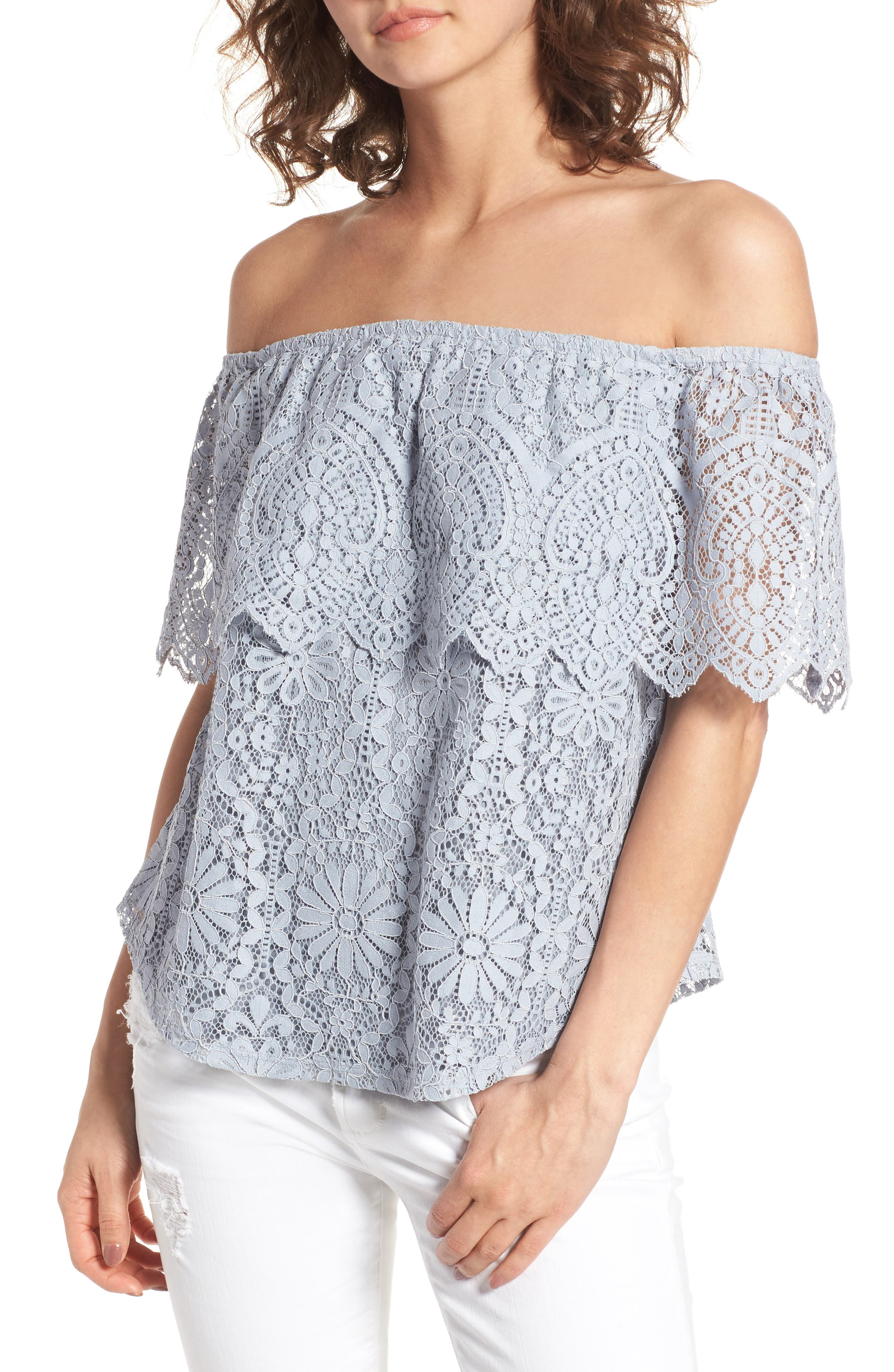 Alternate Image 1 Selected - BP. Lace Off the Shoulder Top