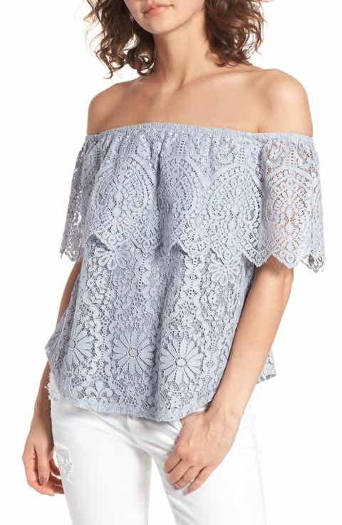 BP. Lace Off the Shoulder Top