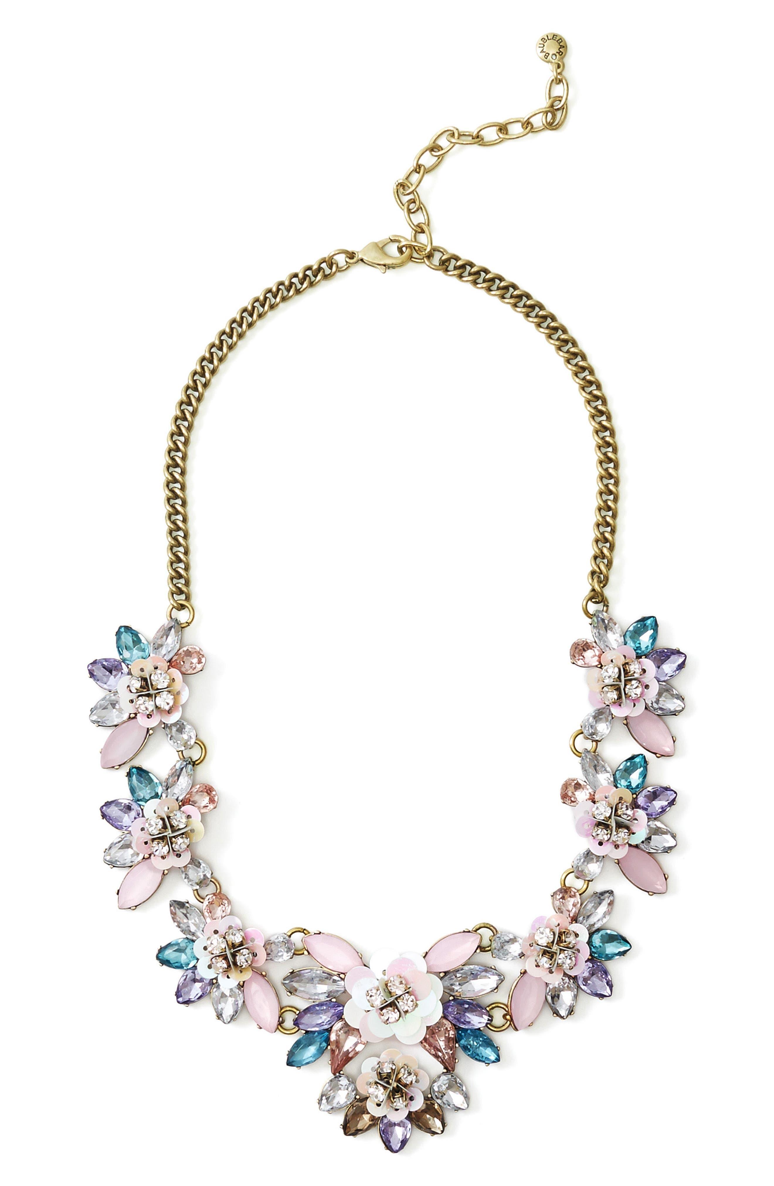 BaubleBar Camellia Bib Necklace