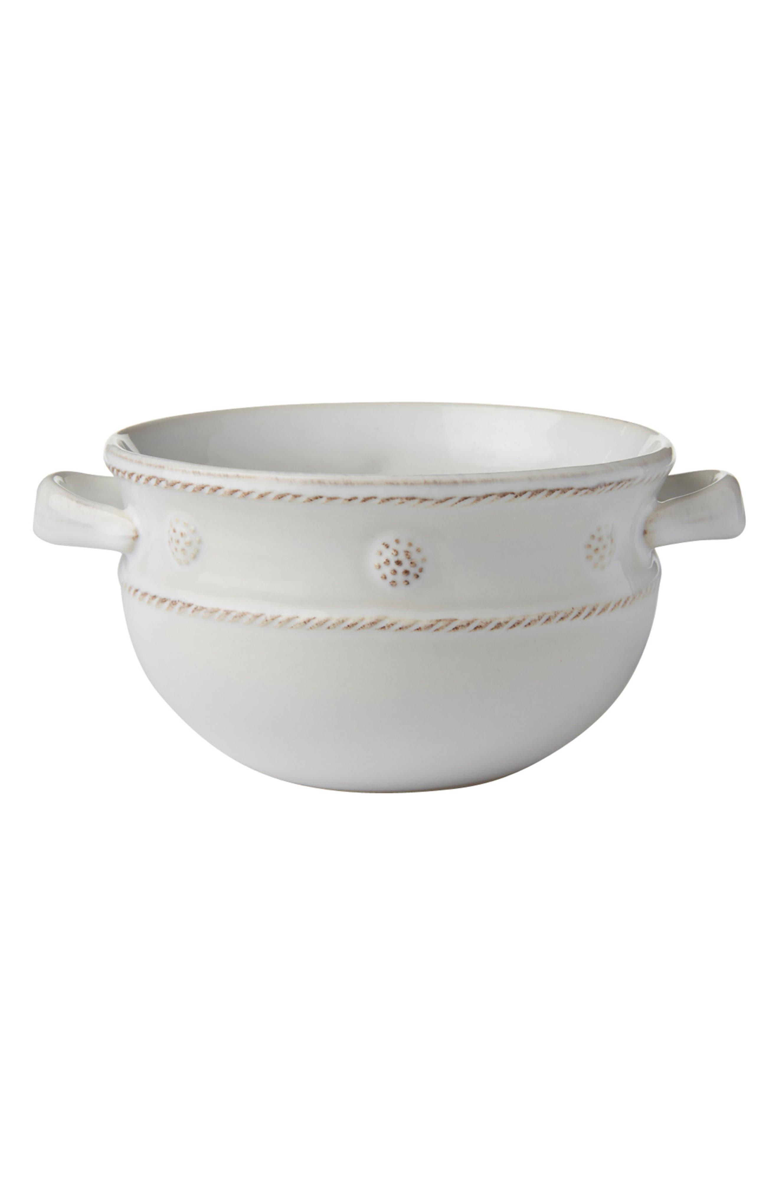 Juliska Berry & Thread Two-Handle Ceramic Bowl