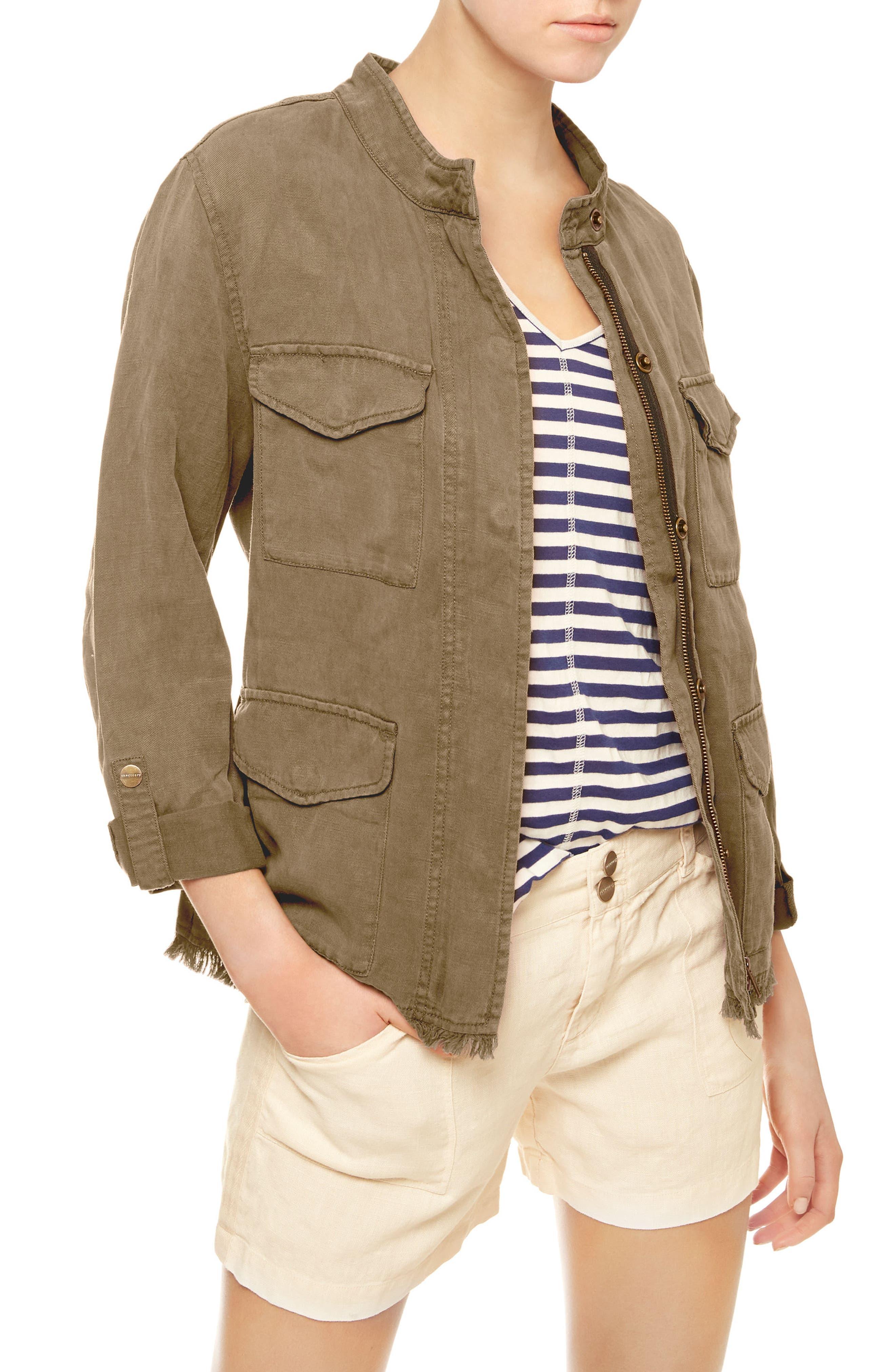 Sanctuary Roy Frayed Surplus Jacket (Regular & Petite)
