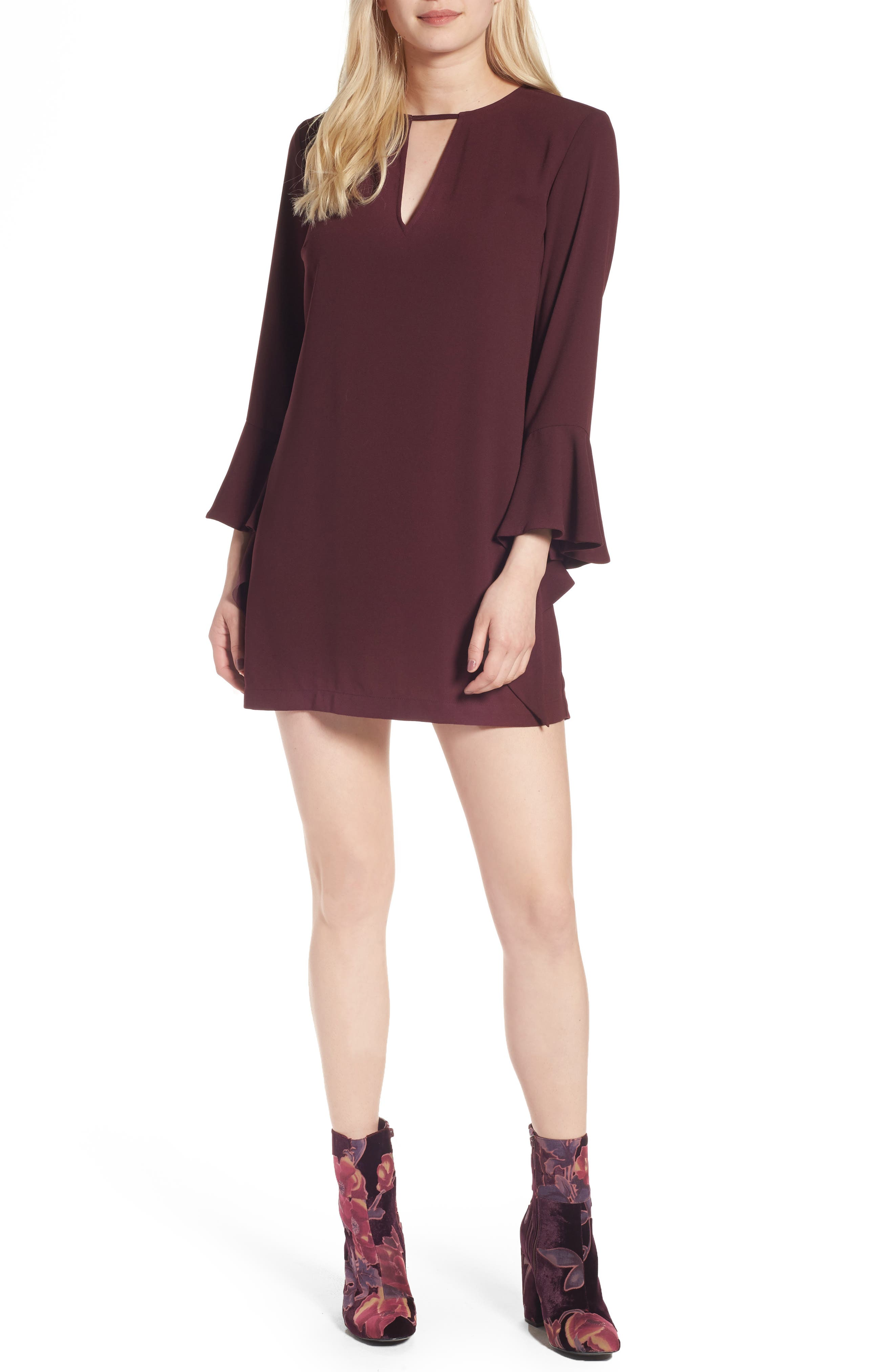 Leith Spiral Sleeve Minidress