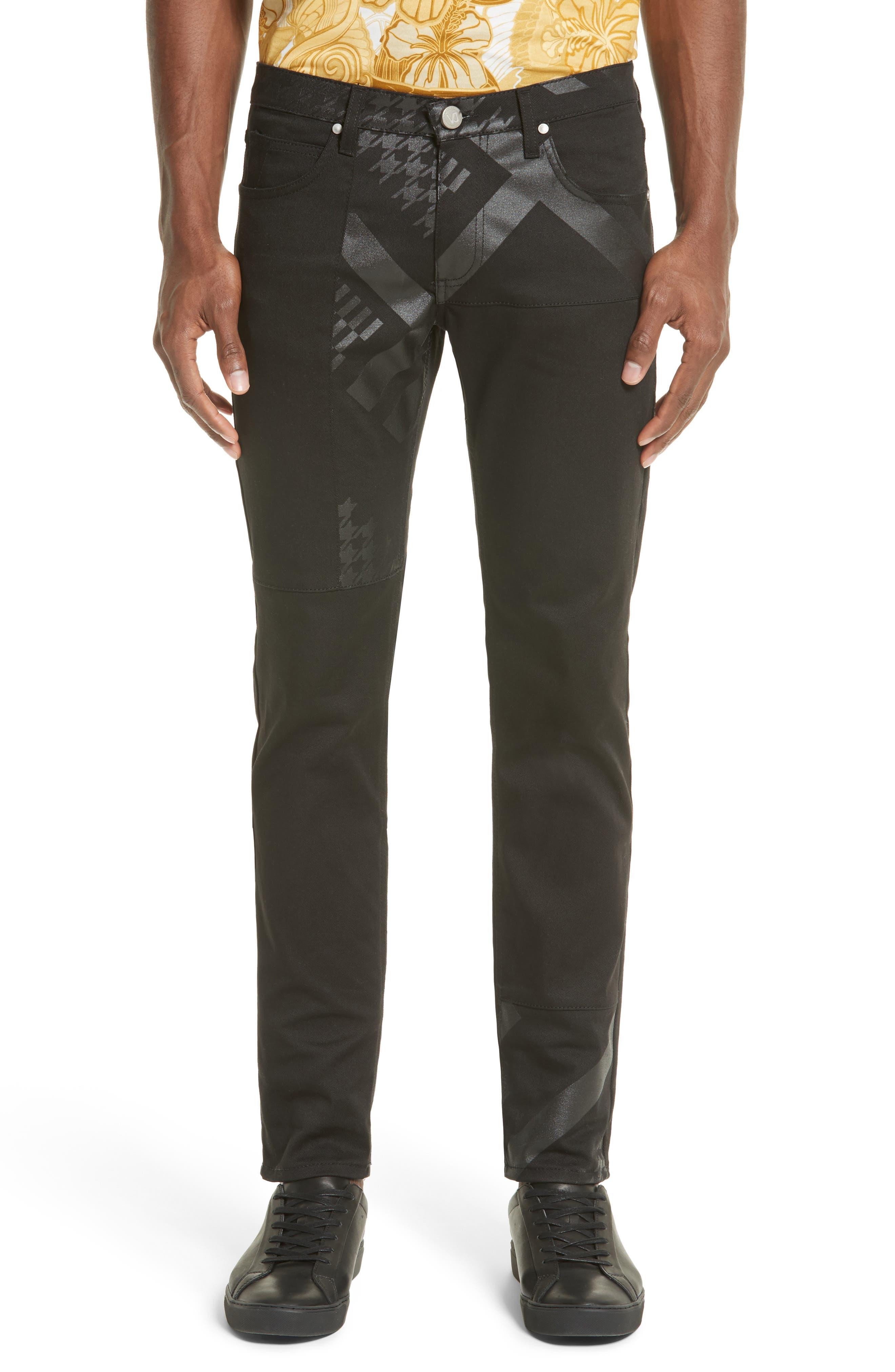 Versace Jeans Slim Fit Print Jeans