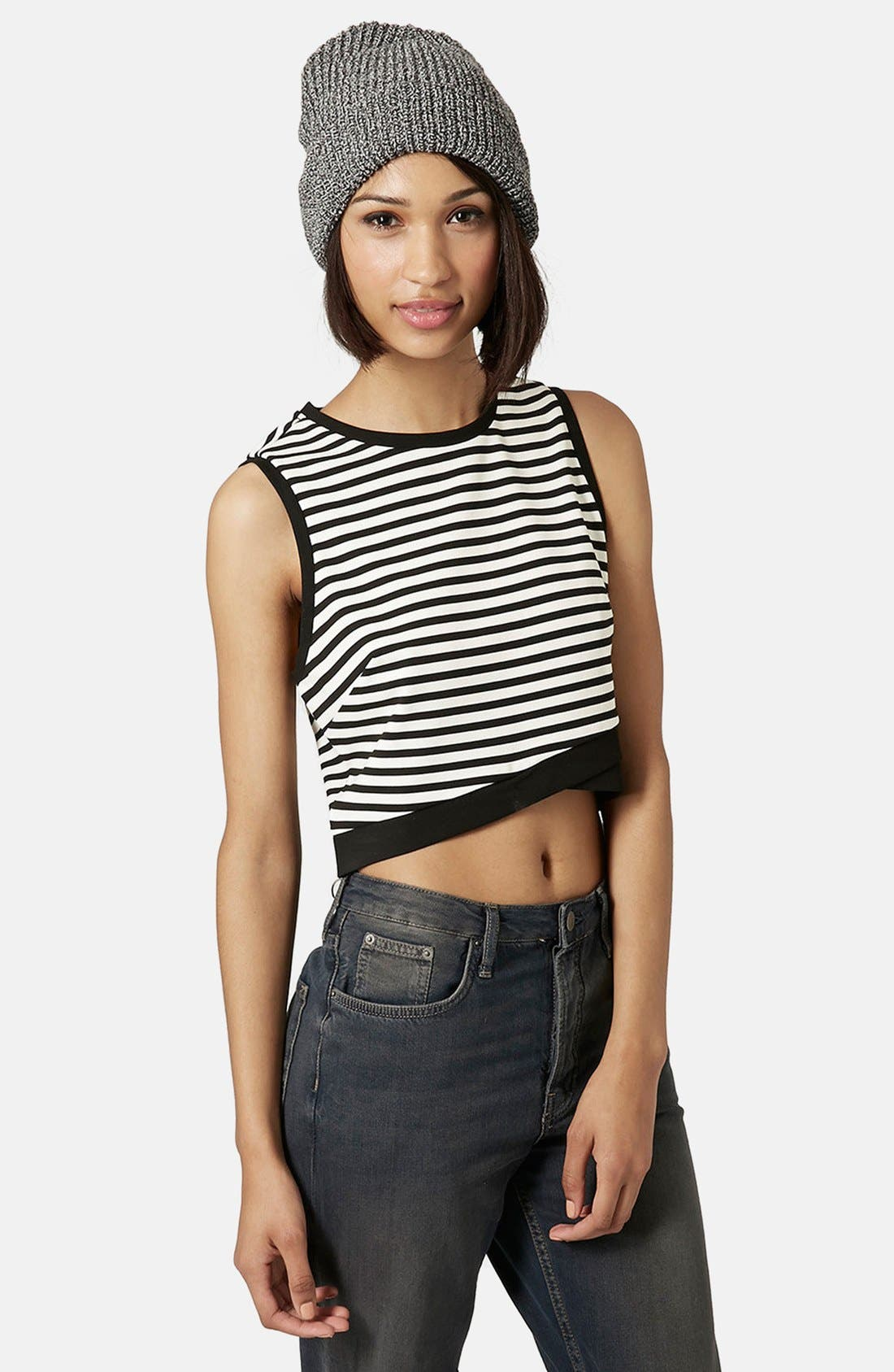 Alternate Image 1 Selected - Topshop Stripe Shell Top