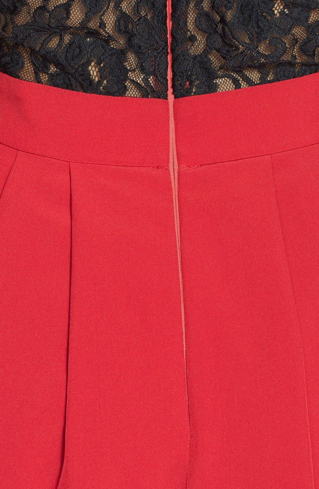 Alternate Image 3  - a. drea Lace Back Fit & Flare Dress (Juniors)