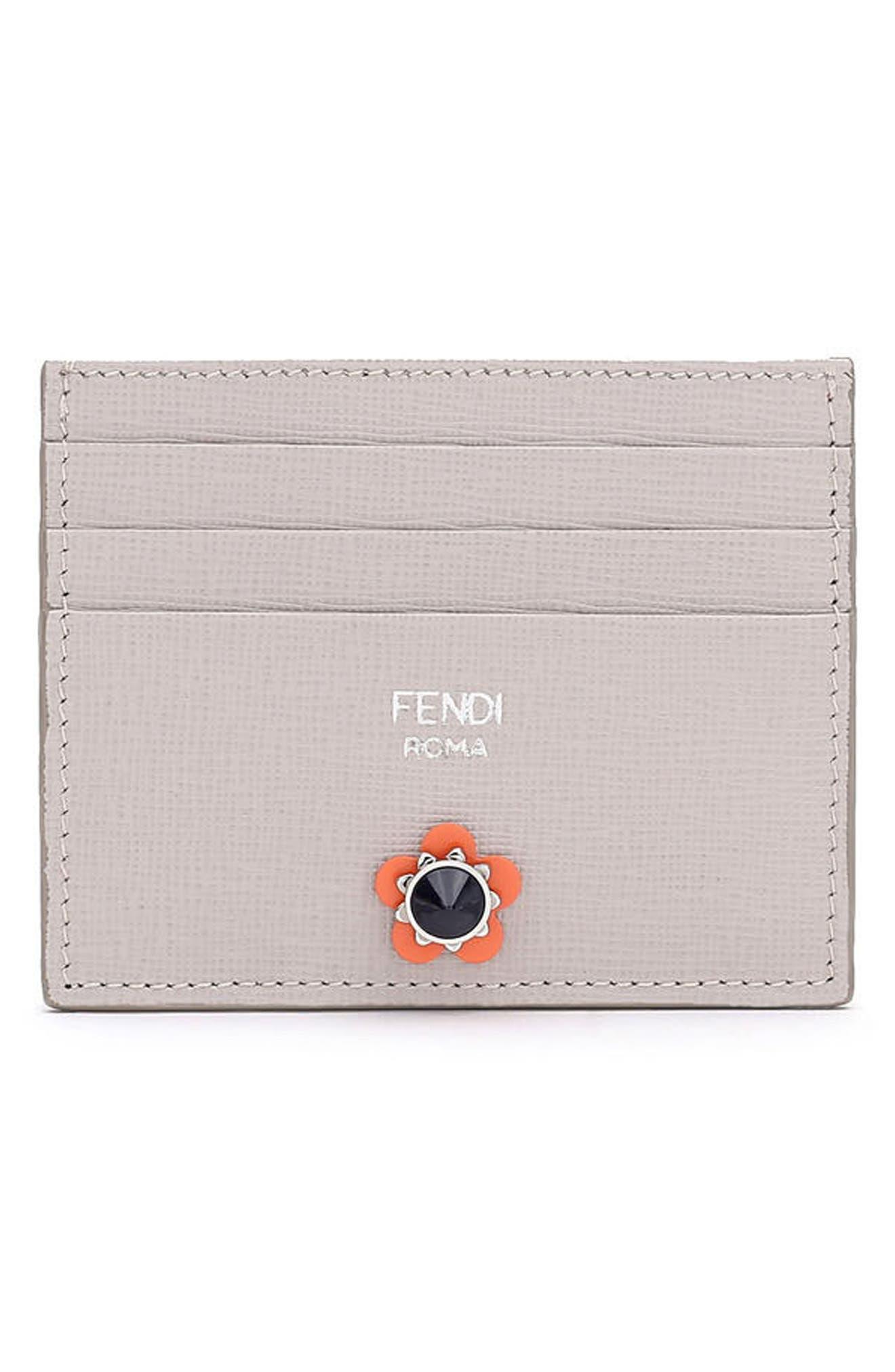 Fendi Flowerland Elite Leather Card Case