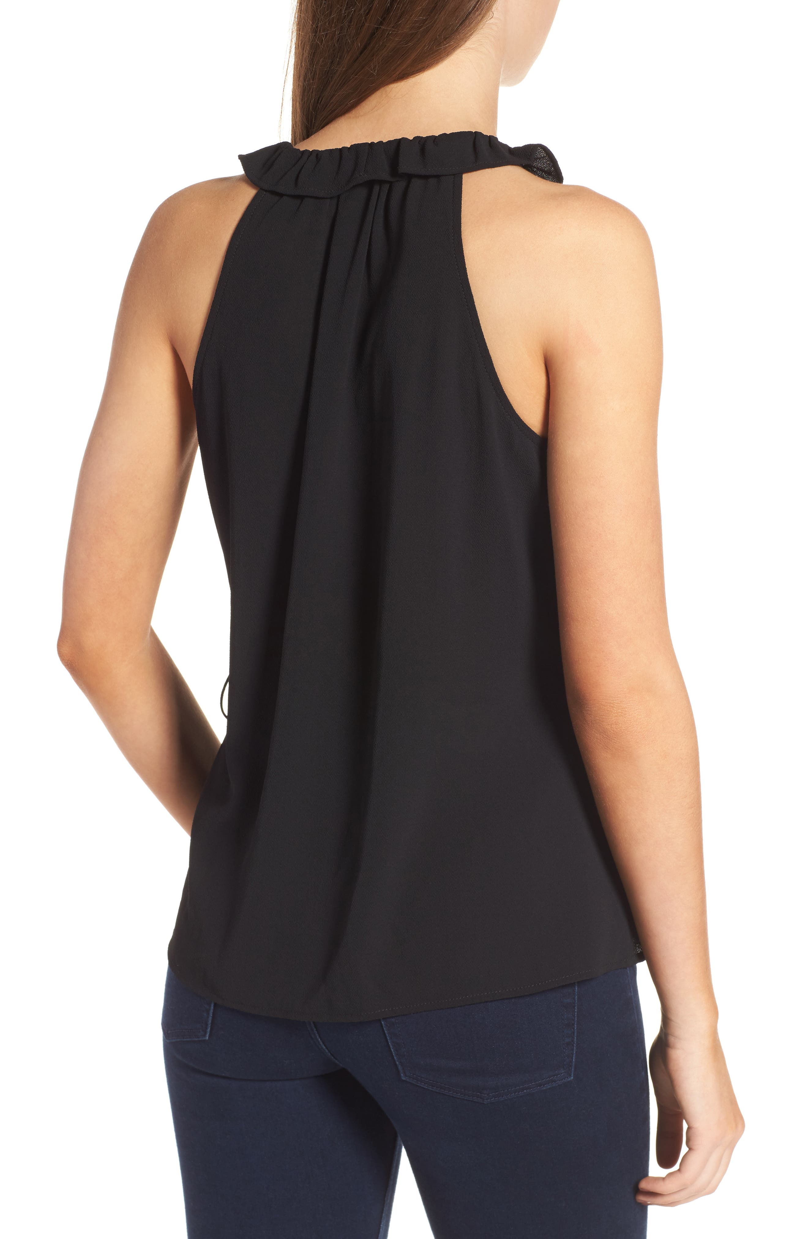 Alternate Image 2  - Leith Ruffle Ruffle Wrap Tank