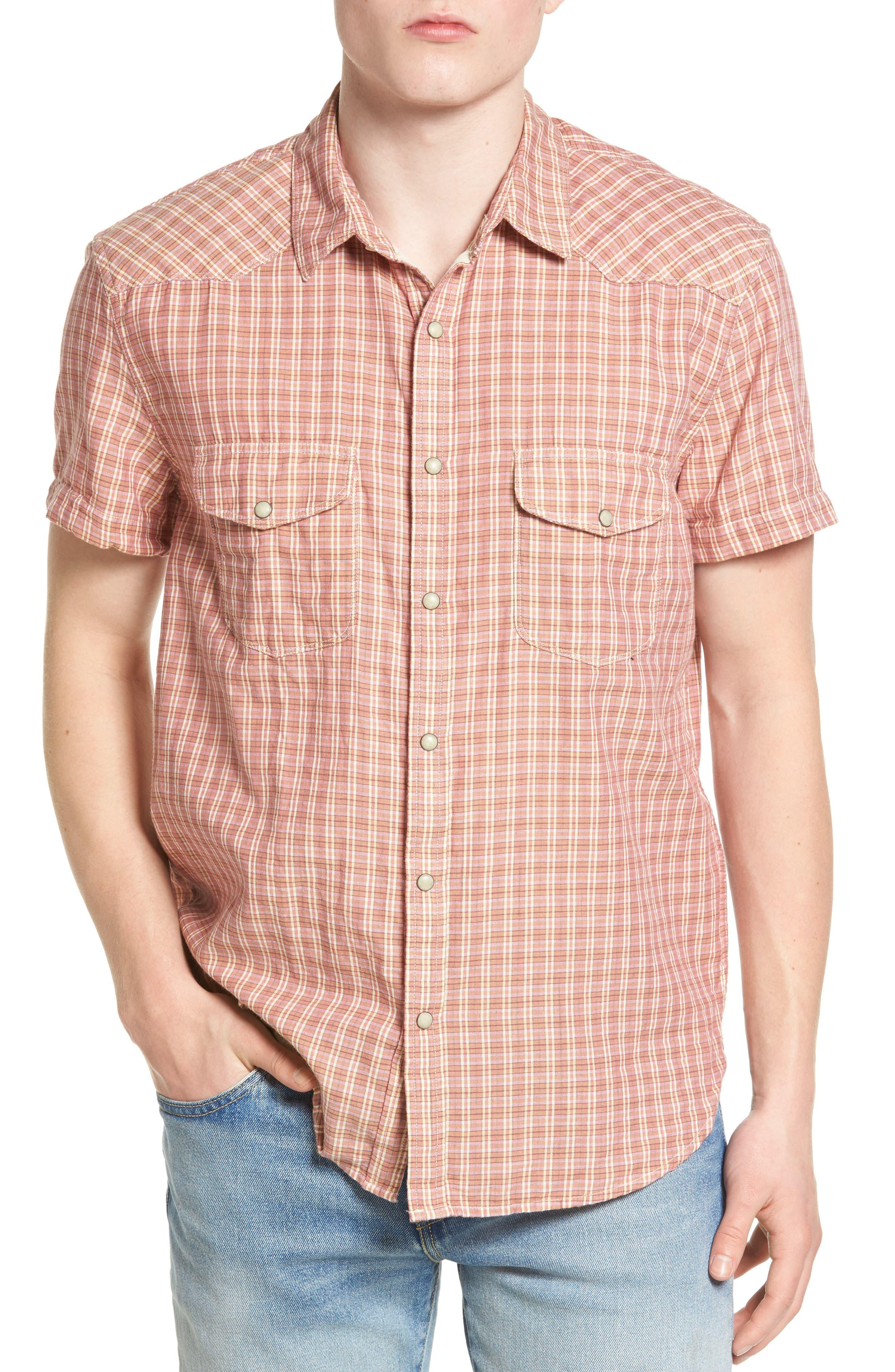 Lucky Brand Plaid Woven Shirt