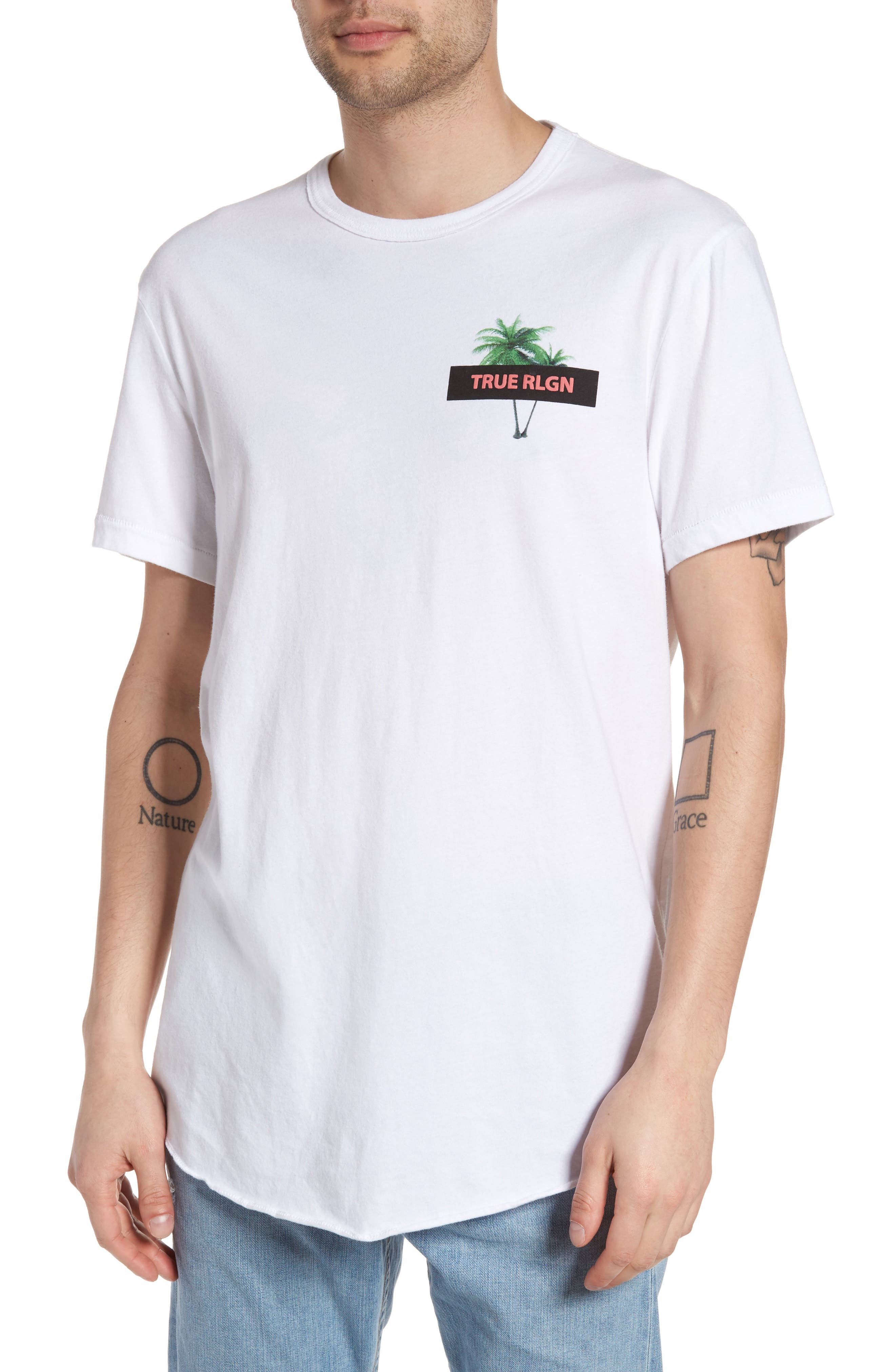 True Religion Brand Jeans Twin Palms Graphic T-Shirt