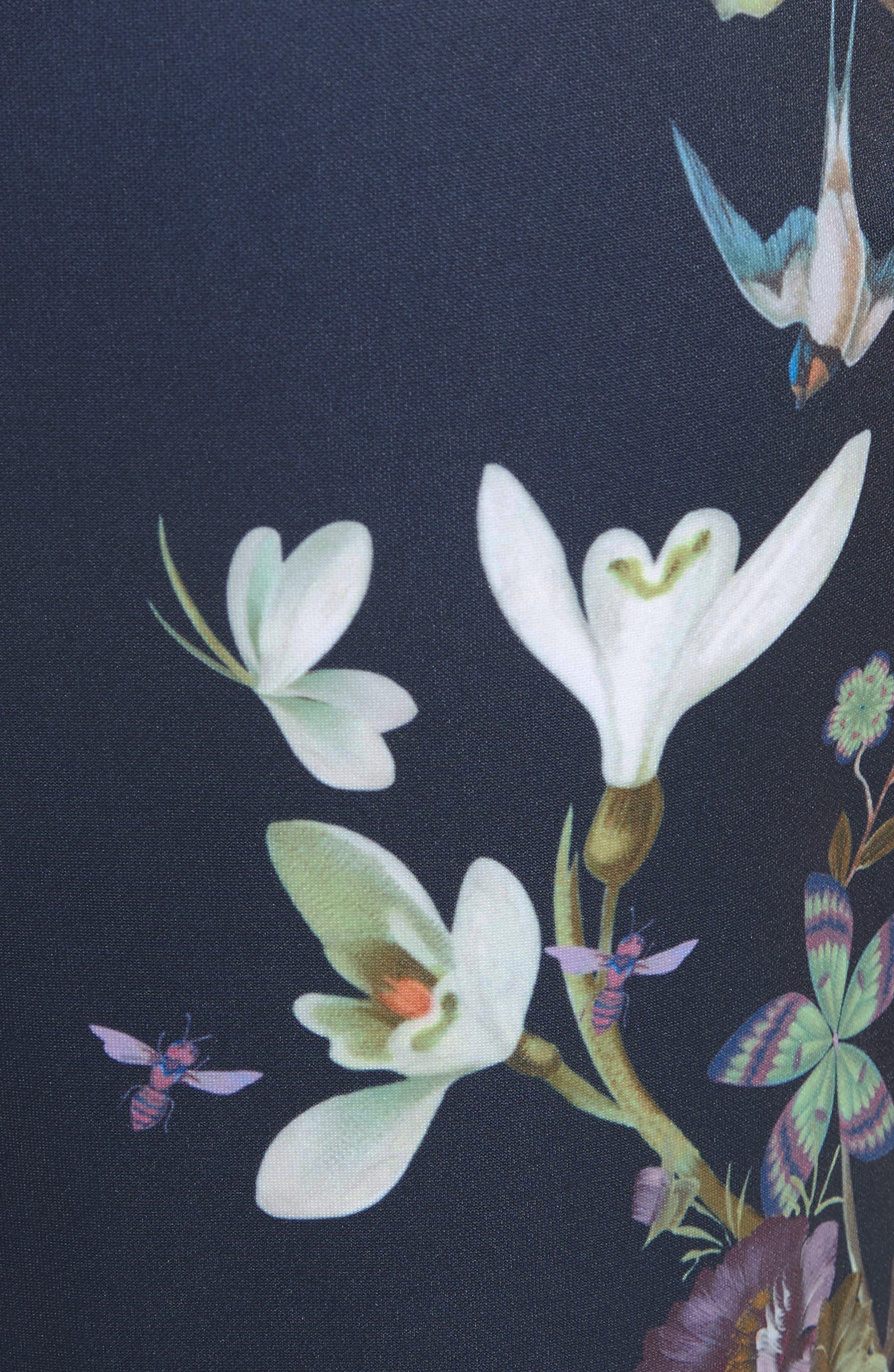 Alternate Image 5  - Ted Baker London Katiey Placed Print Sheath Dress