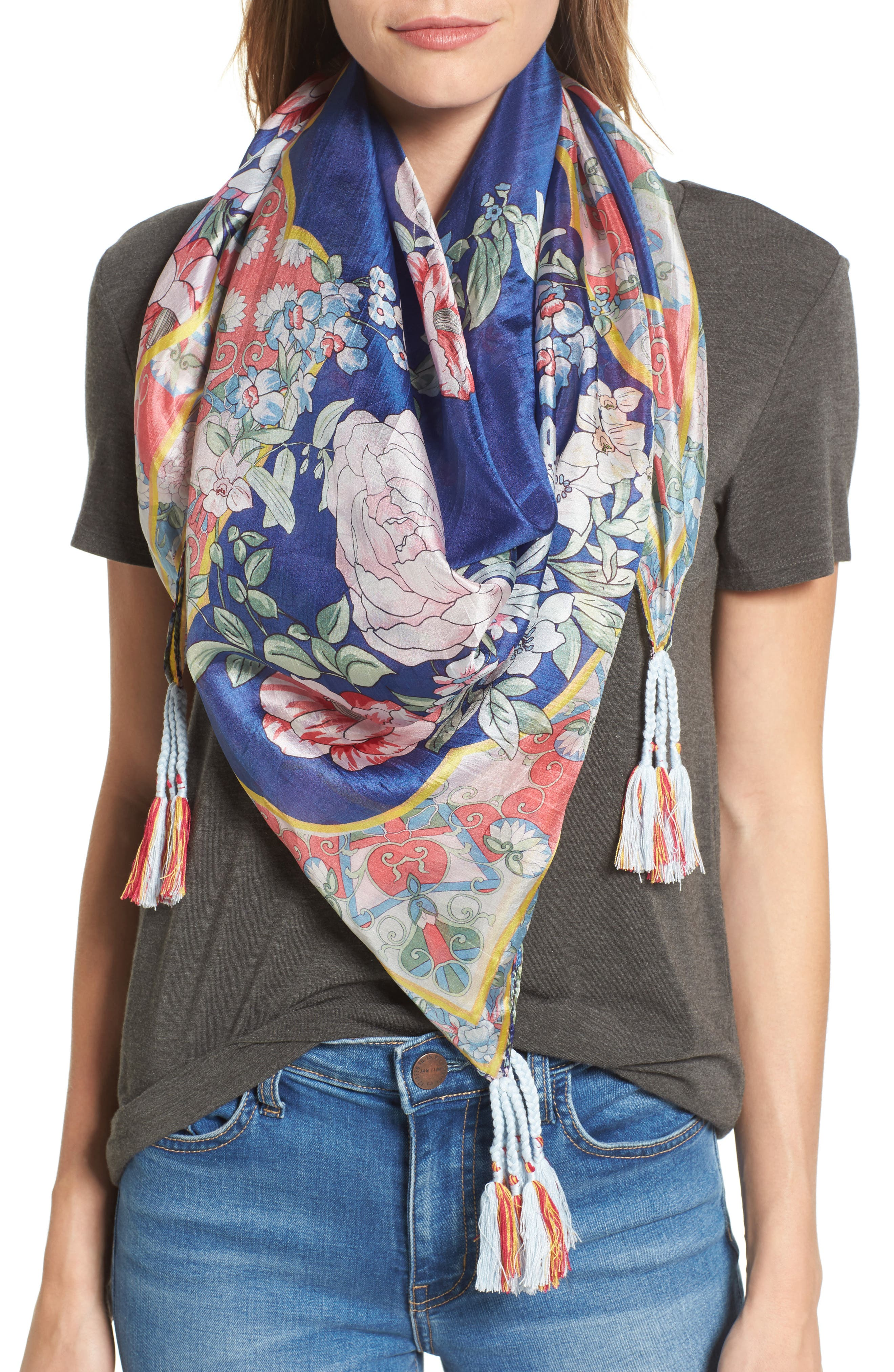 Johnny Was Morning Square Silk Scarf