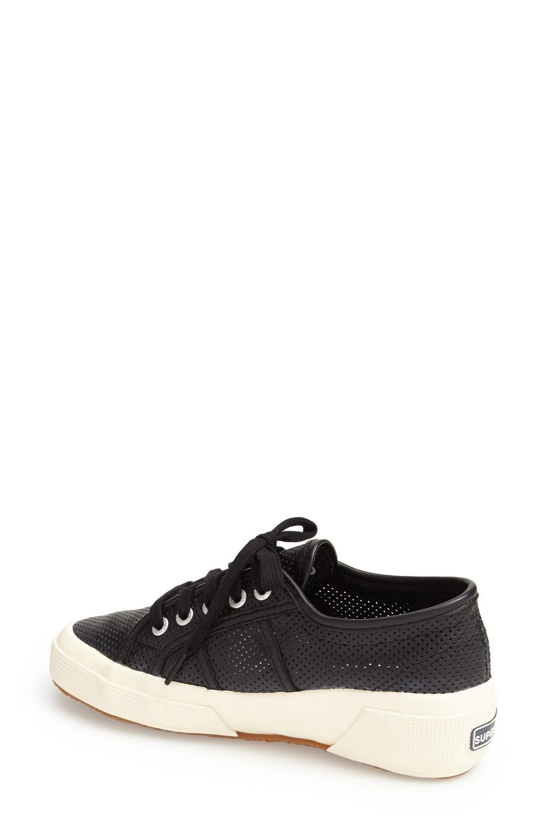 Alternate Image 2  - Superga 'Perforated Cotu' Leather Sneaker (Women)