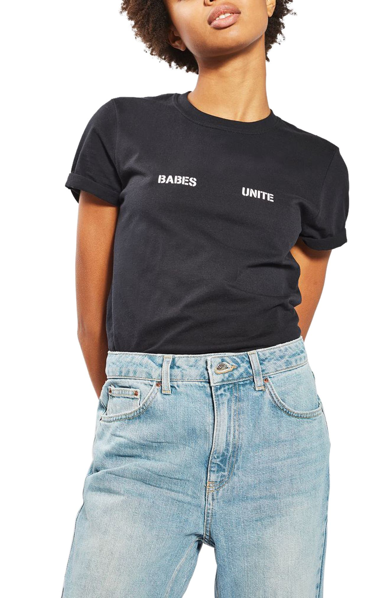 Alternate Image 1 Selected - Topshop Babes Unite Tee