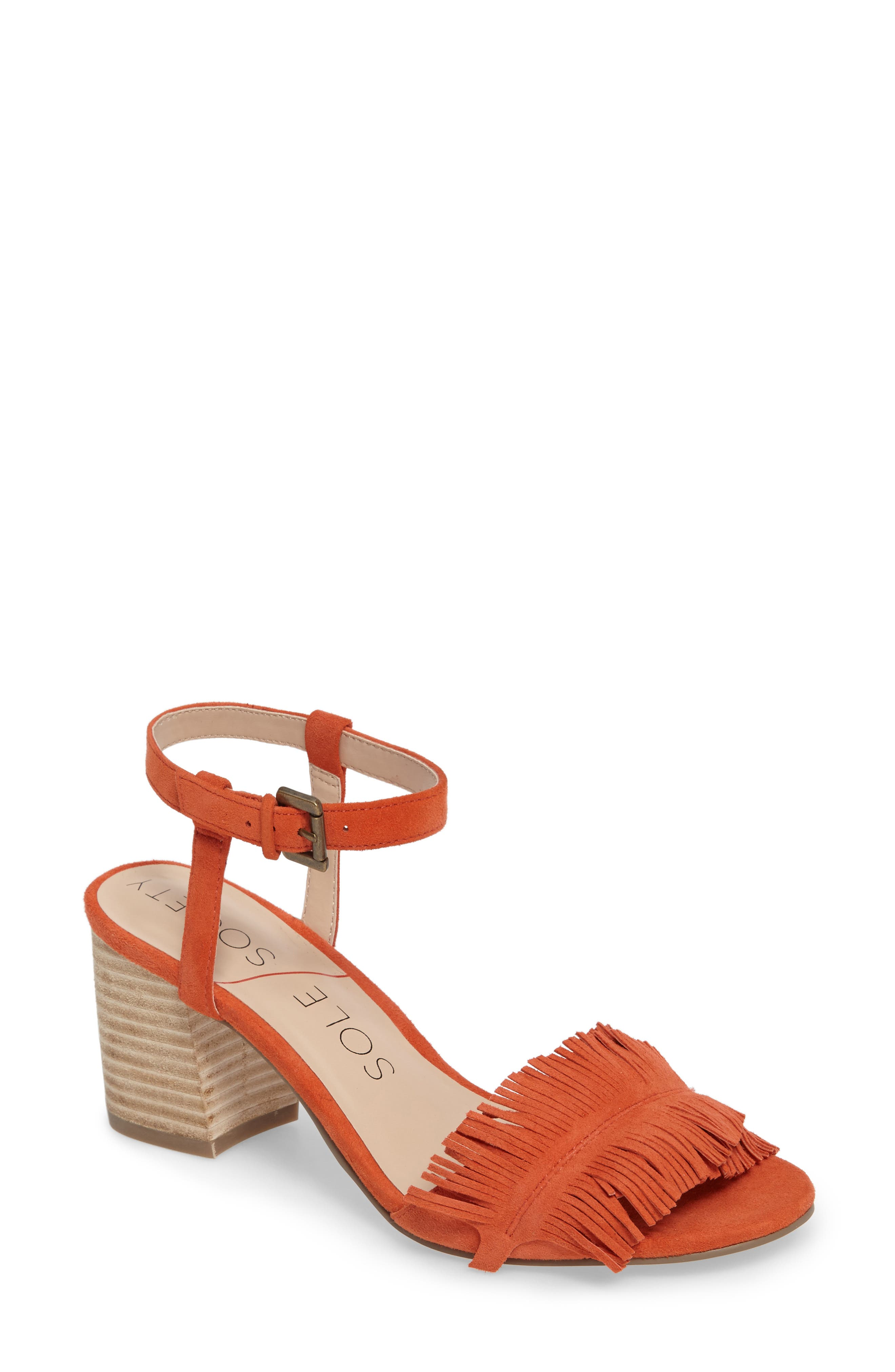 Alternate Image 1 Selected - Sole Society Sepia Fringe Sandal (Women)