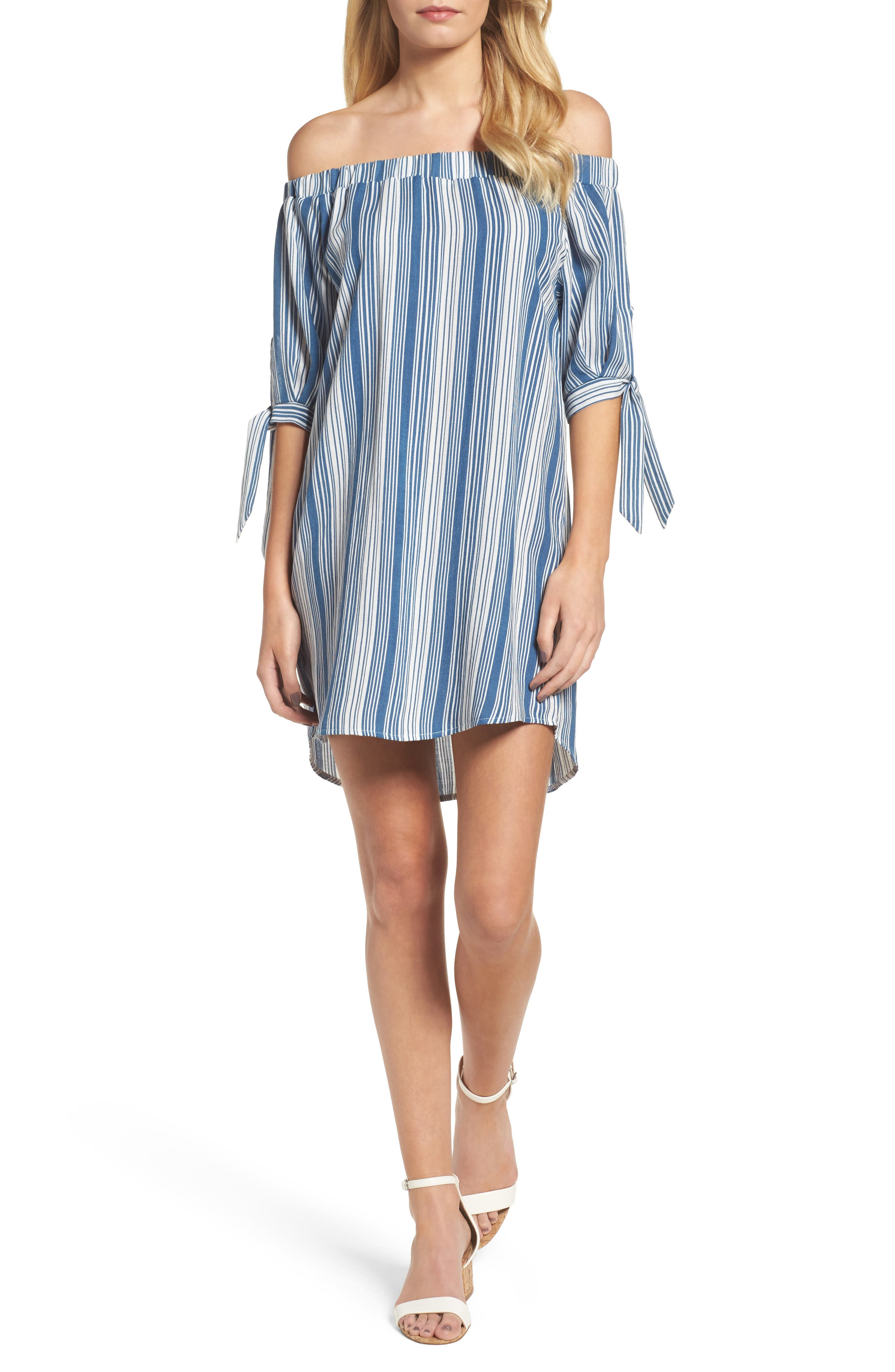 Main Image - THML Off the Shoulder Minidress