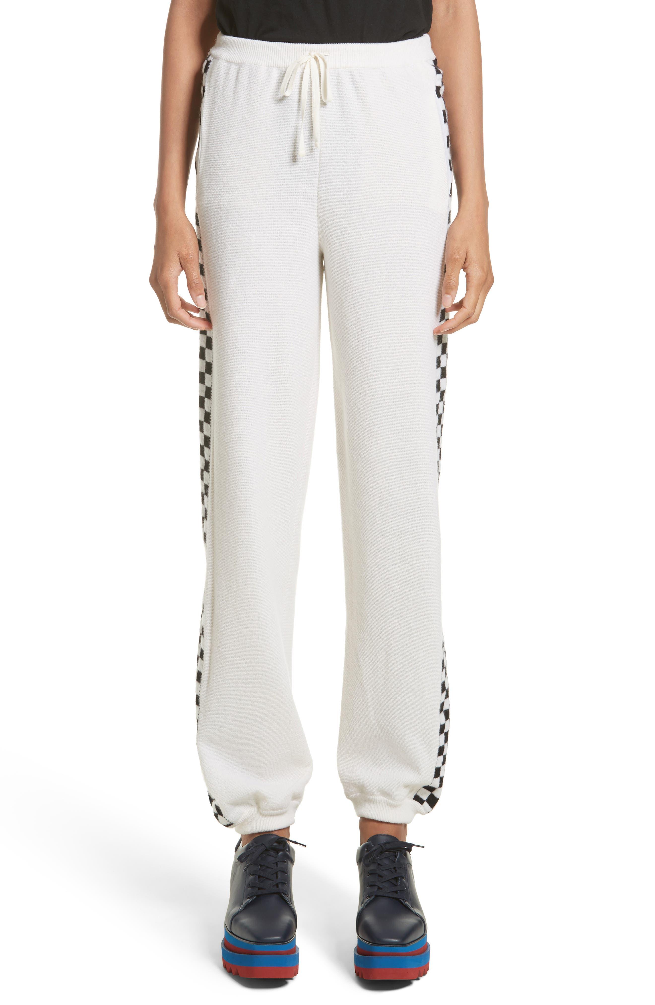 Stella McCartney Check Stripe Wool Joggers