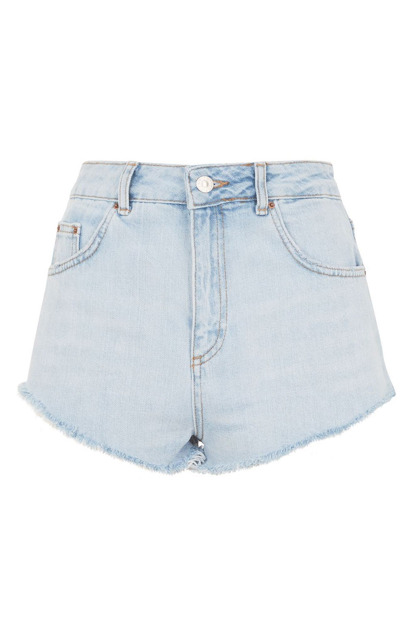 Alternate Image 4  - Topshop Kiri Cutoff Denim Shorts