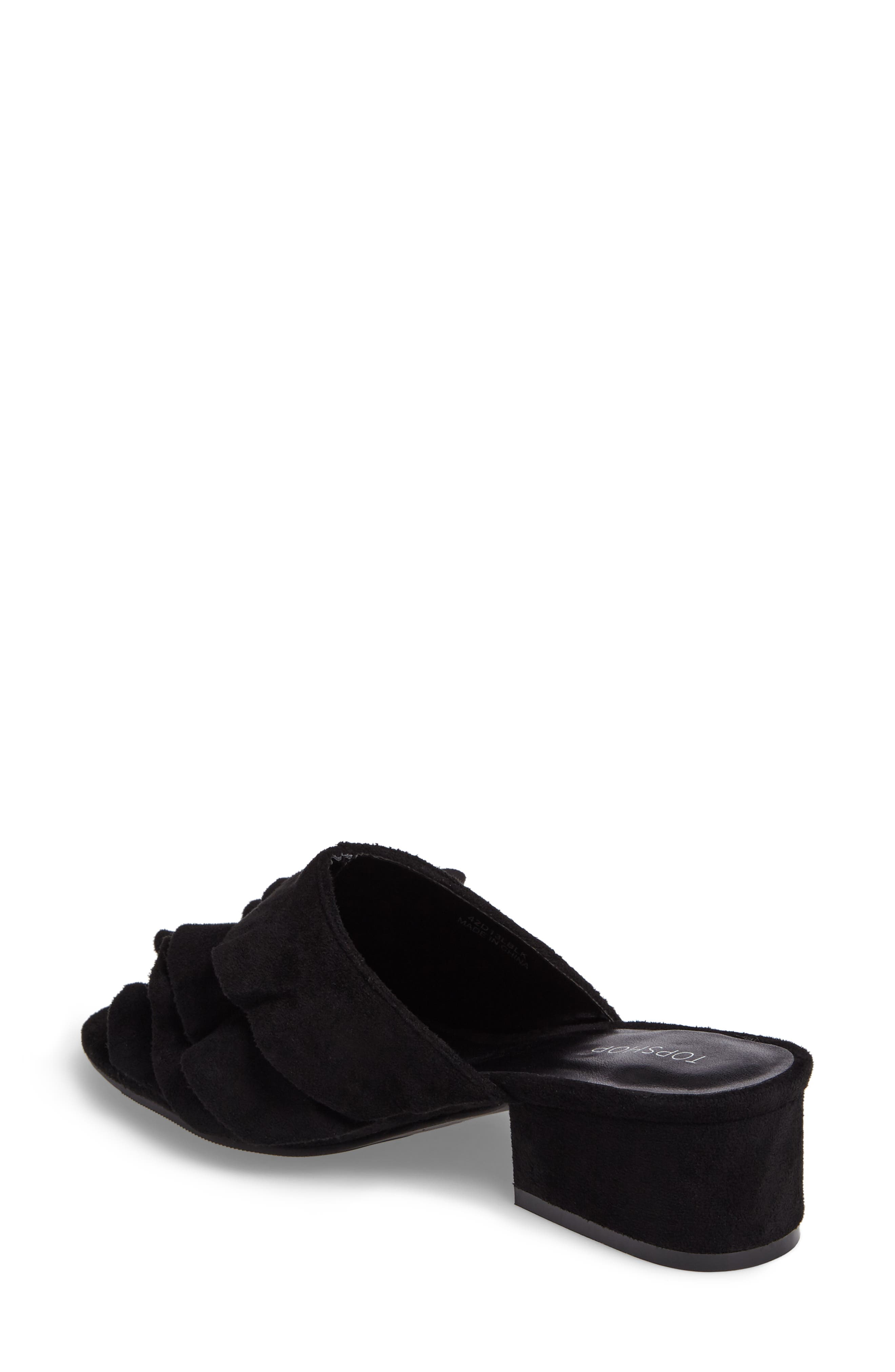 Alternate Image 2  - Topshop Darcy Ruffle Slide Sandal (Women)
