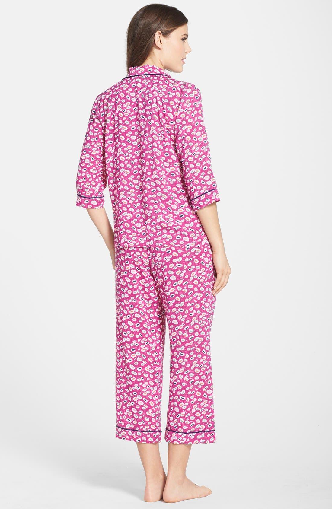 Alternate Image 2  - DKNY Print Capri Pajamas