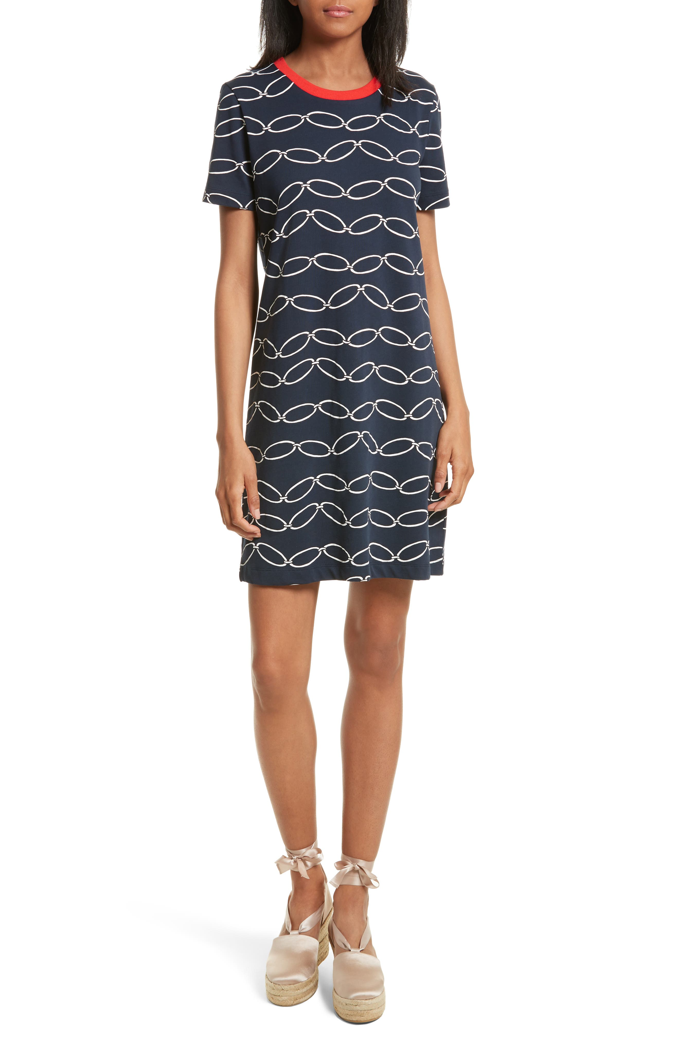 Tory Burch Michaela Print T-Shirt Dress