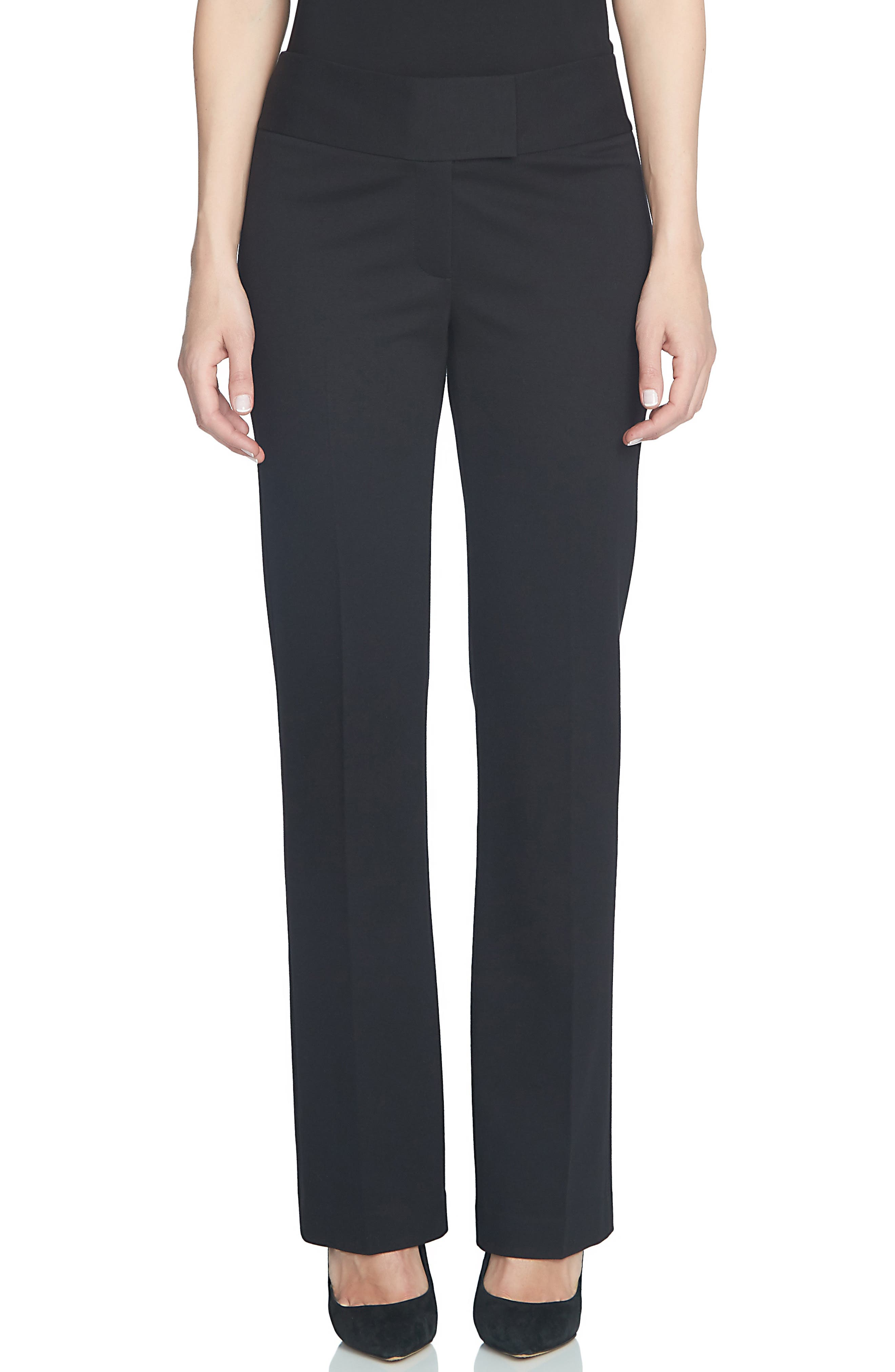 CECE Ponte Knit Slim Boot Leg Pants