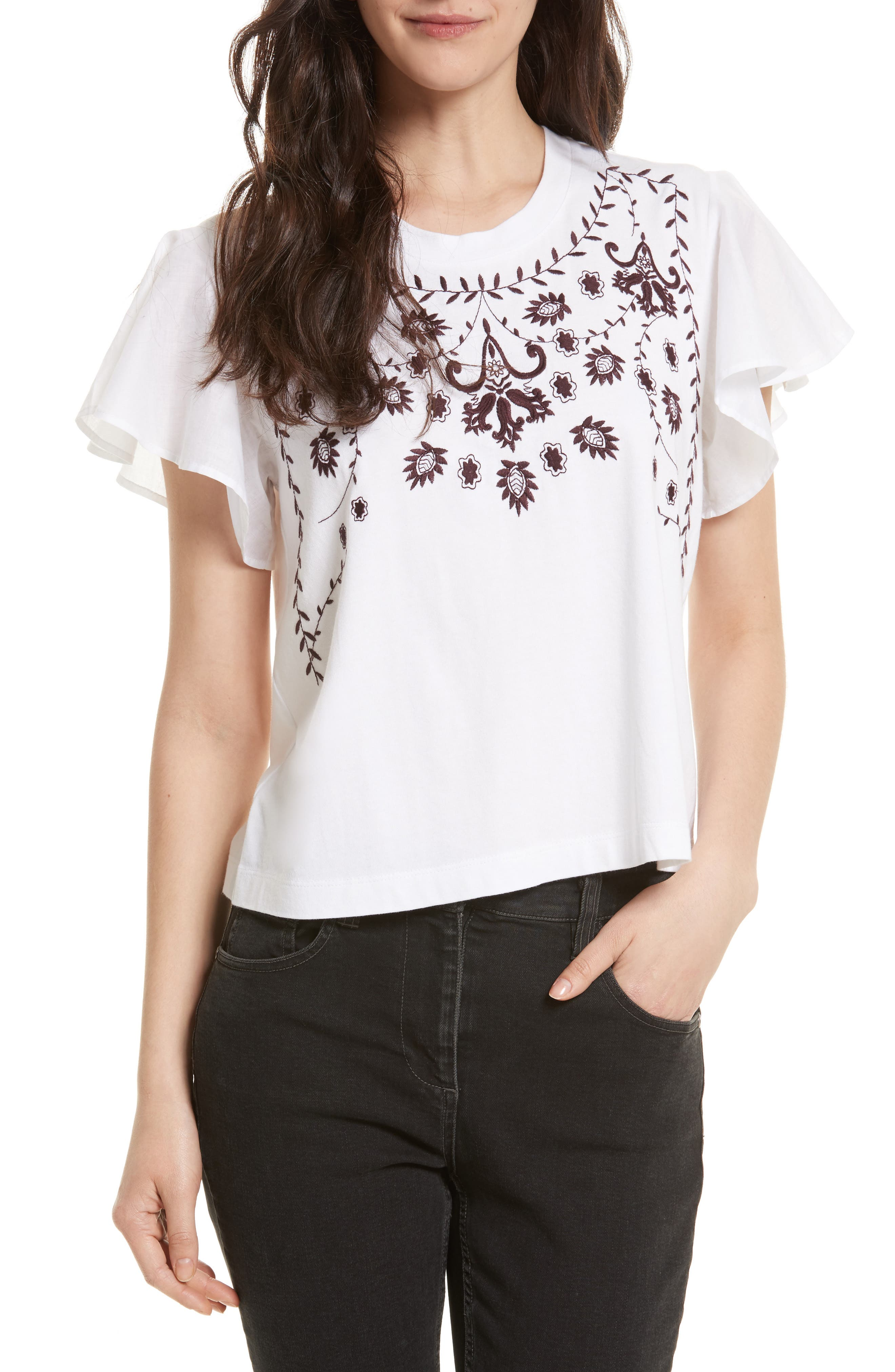 Rebecca Minkoff Embroidered Tee
