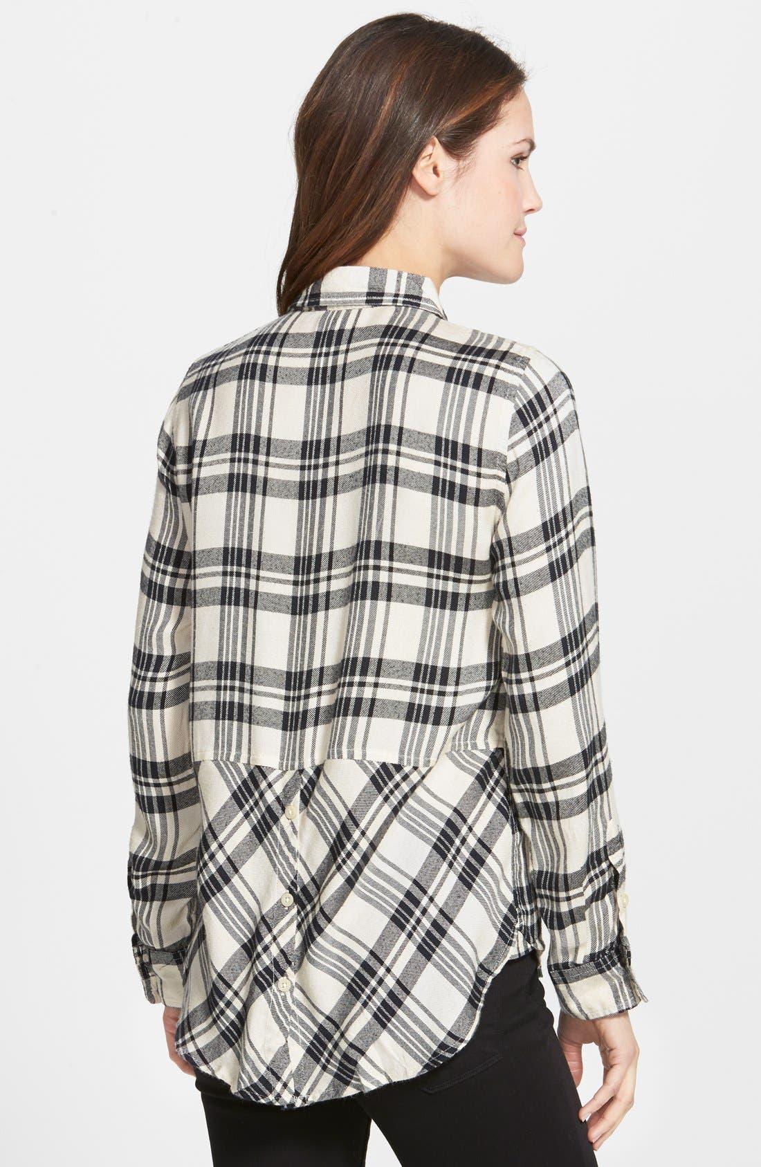 Alternate Image 2  - Lucky Brand Flannel Boyfriend Shirt