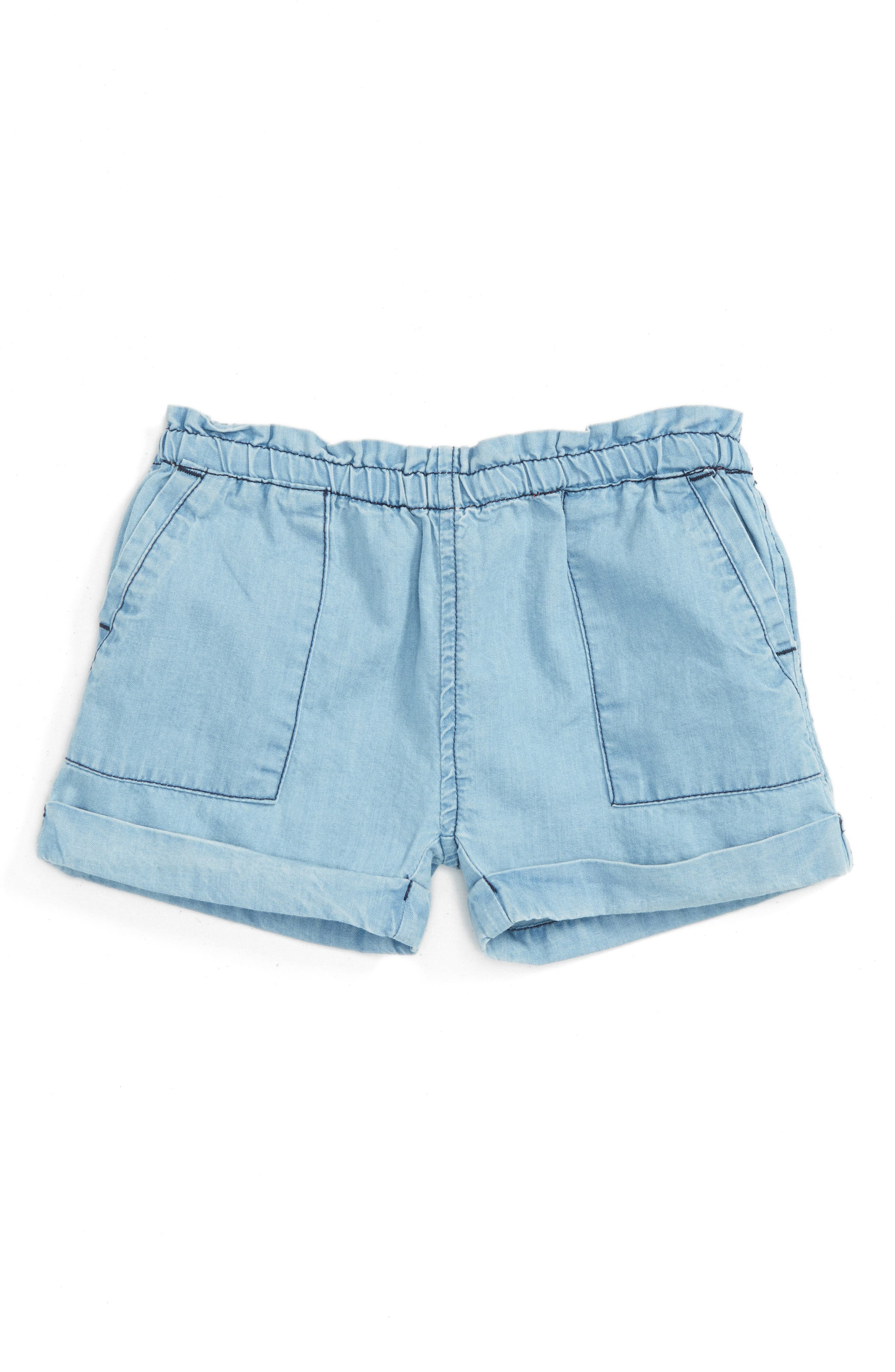 Peek Jojo Chambray Shorts (Baby Girls)