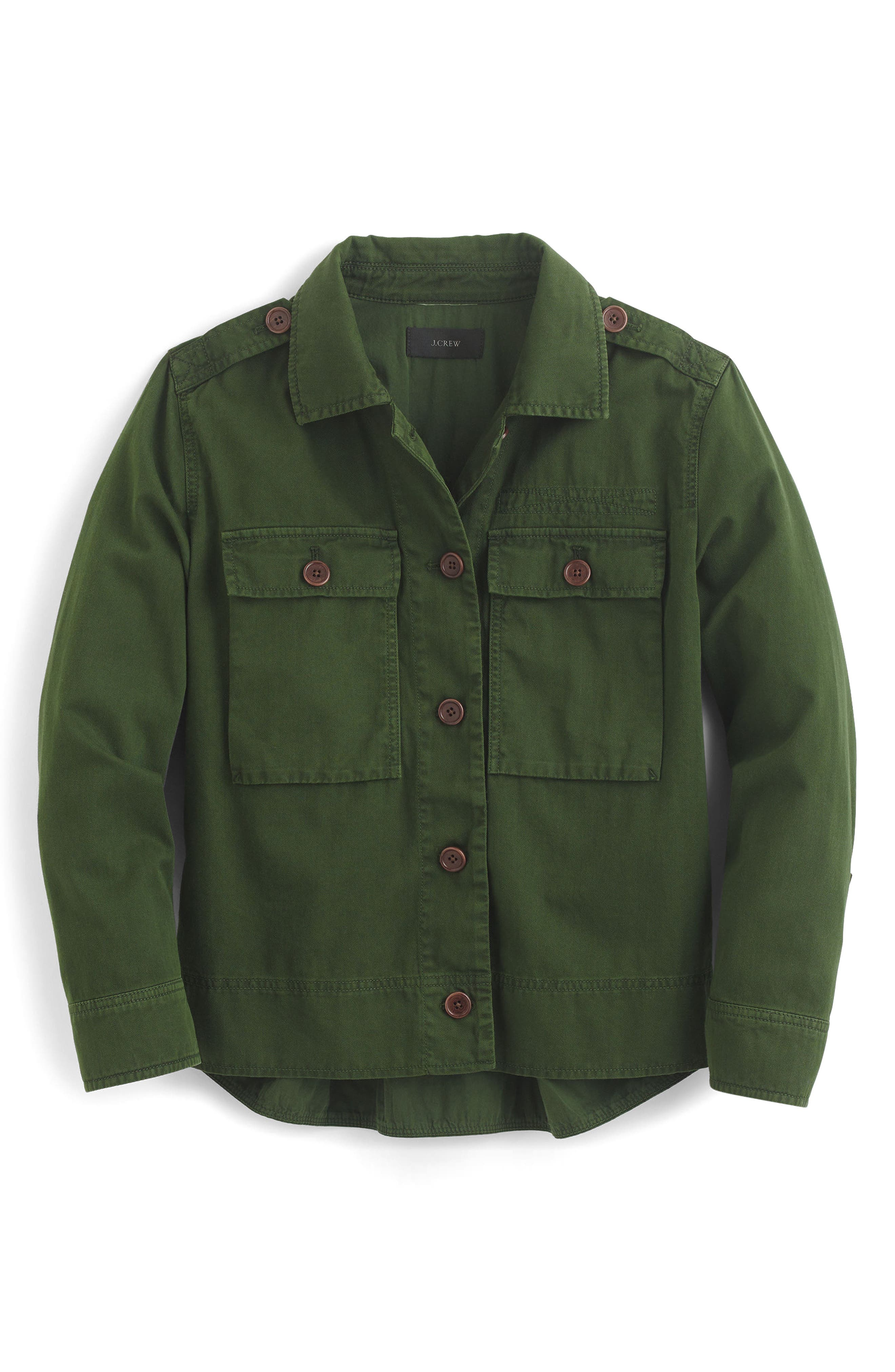 J.Crew Garment Dyed Safari Shirt Jacket (Regular & Petite)