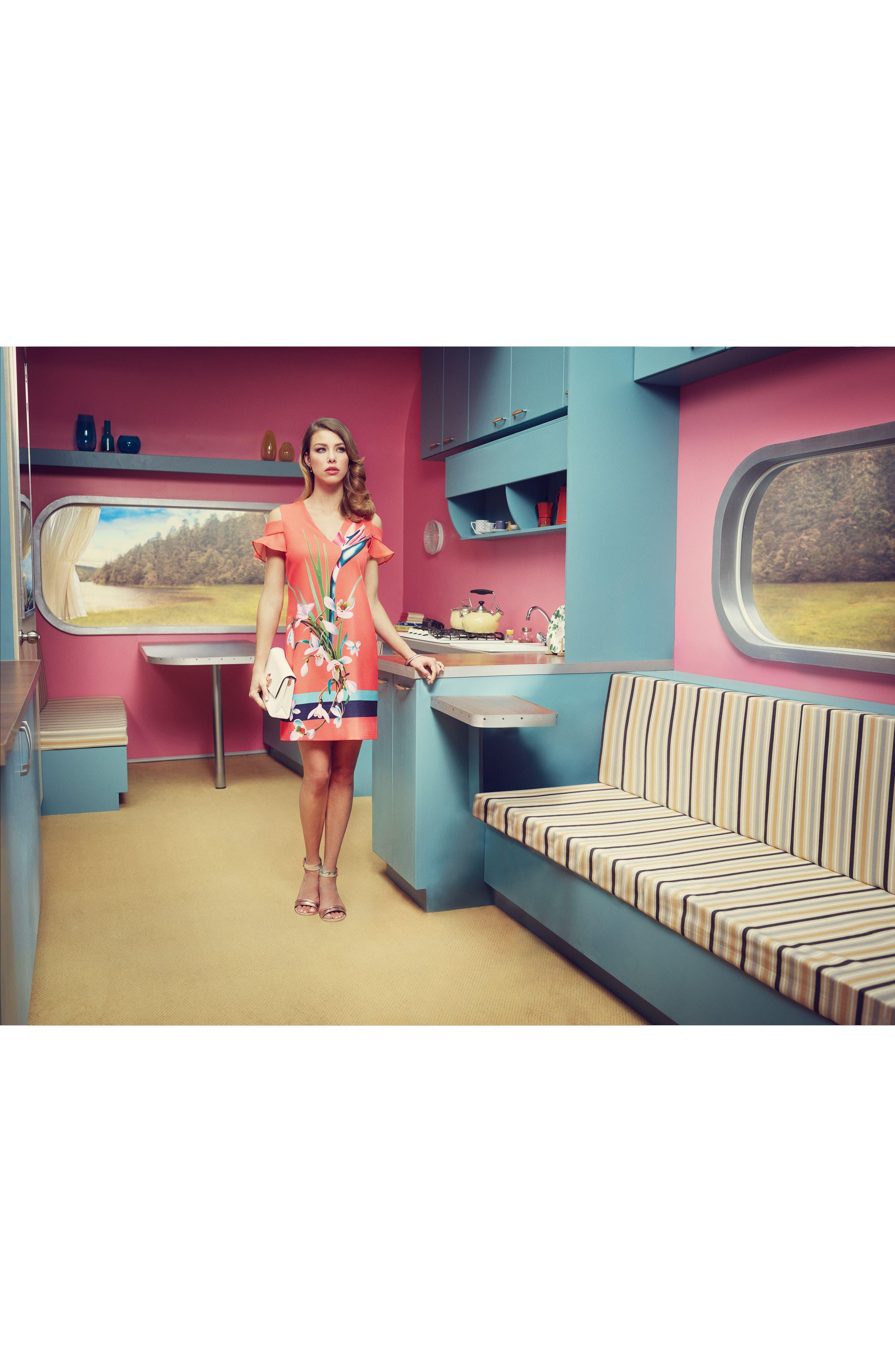 Alternate Image 2  - Ted Baker London Leea Cold Shoulder Shift Dress