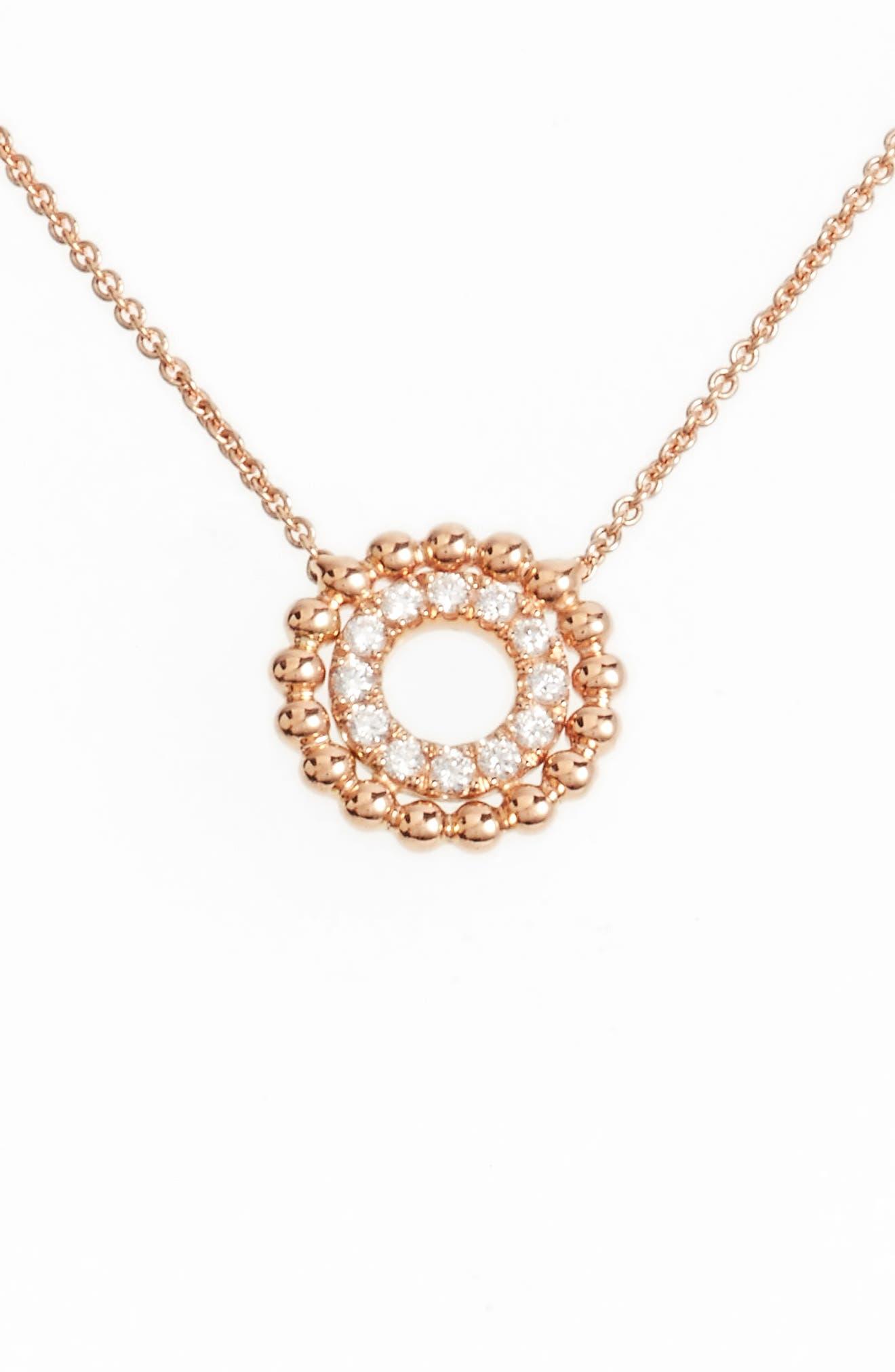 Dana Rebecca Designs Poppy Rae Double Disc Diamond Pendant Necklace