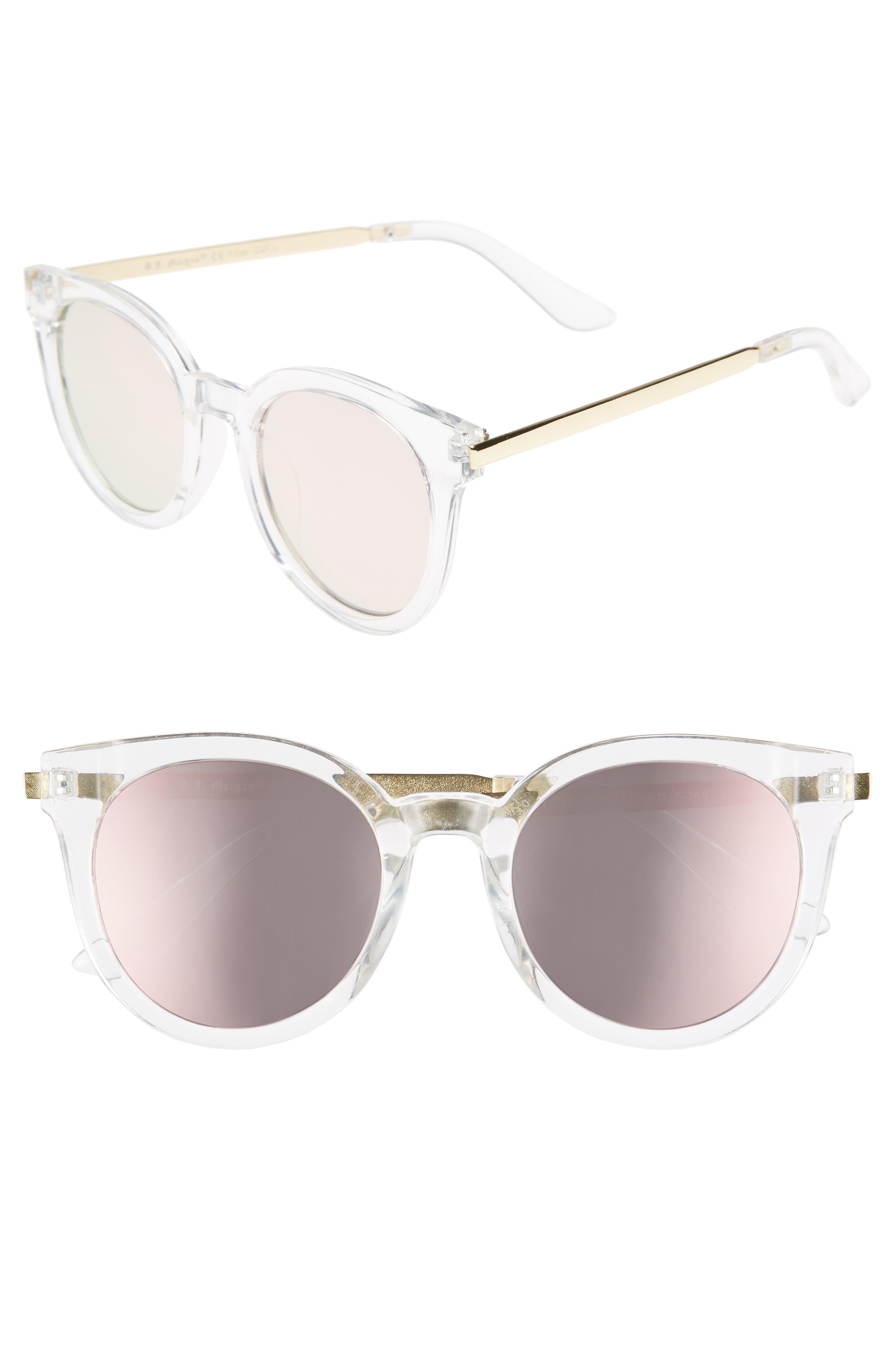 A.J. Morgan Hi There 50mm Mirrored Round Sunglasses