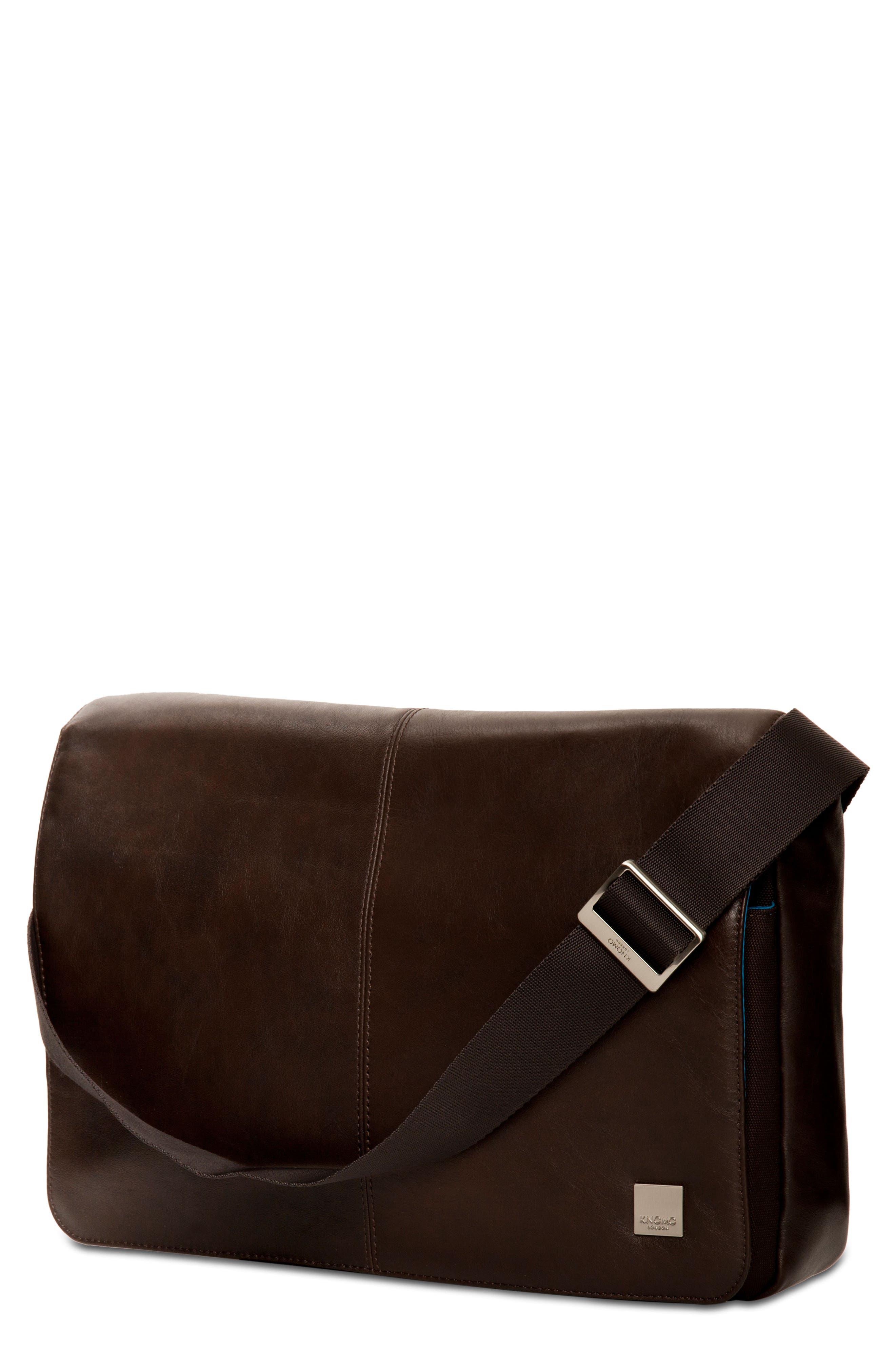 KNOMO London Brompton Kinsale RFID Leather Messenger Bag